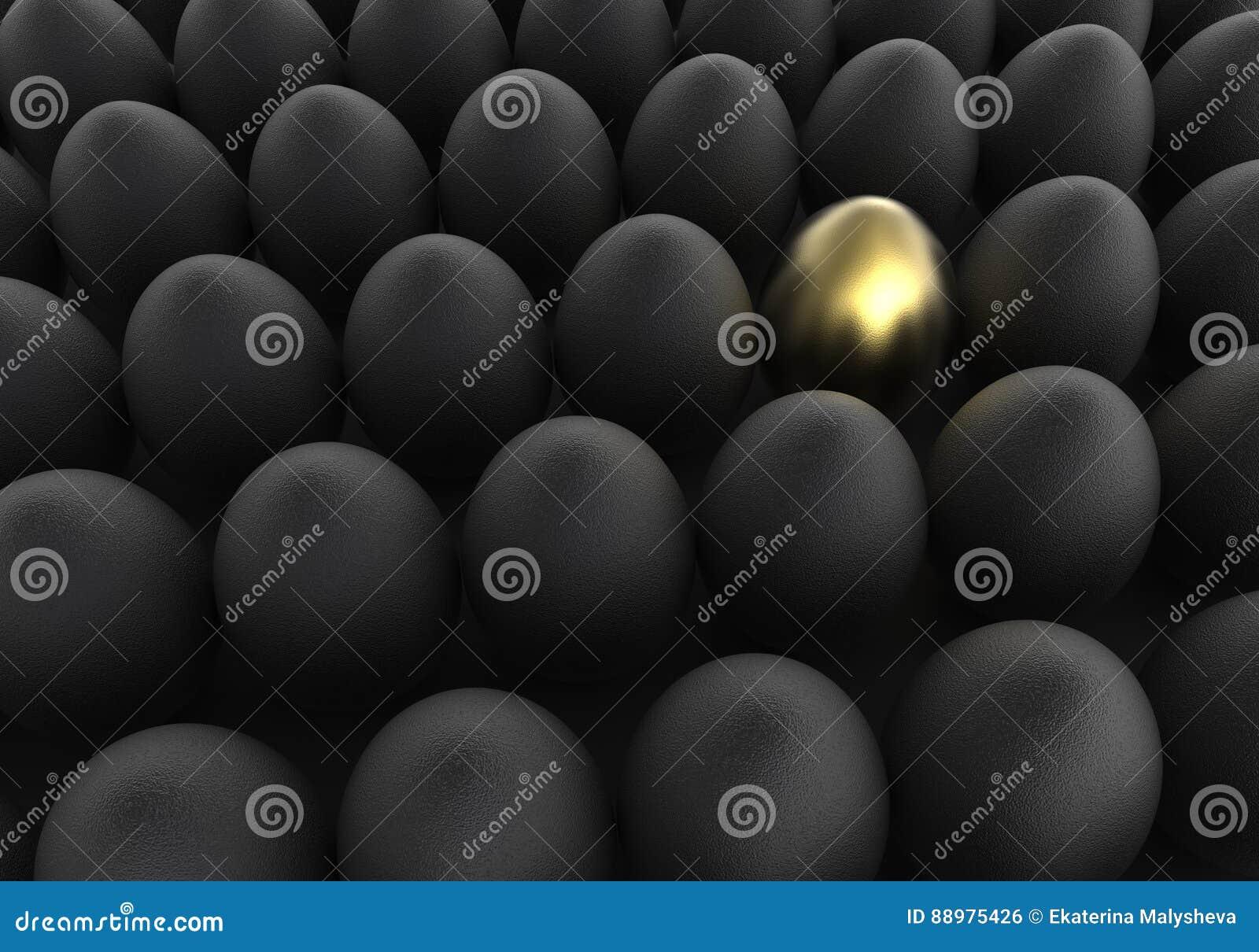 Ovos dourados e pretos do fundo da Páscoa