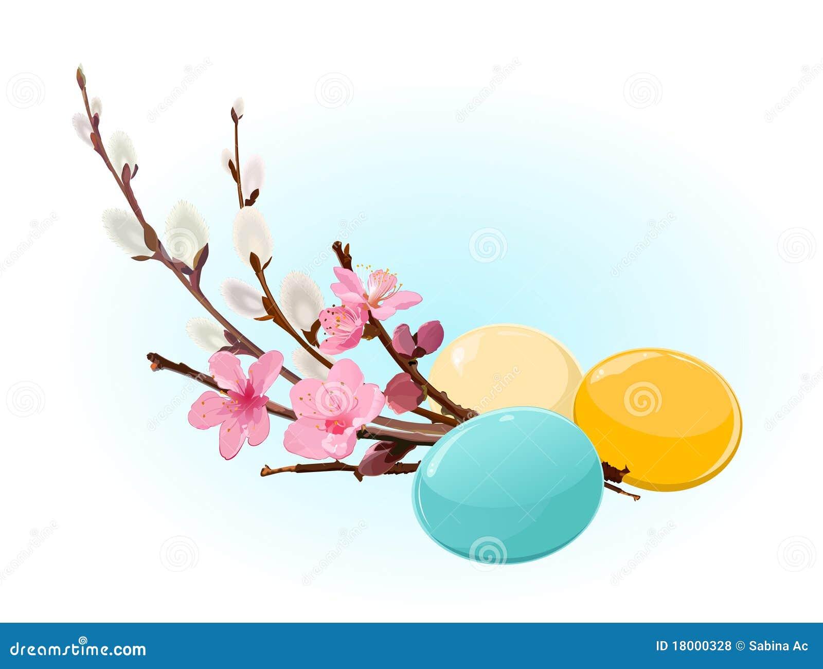 Ovos e flores de Easter