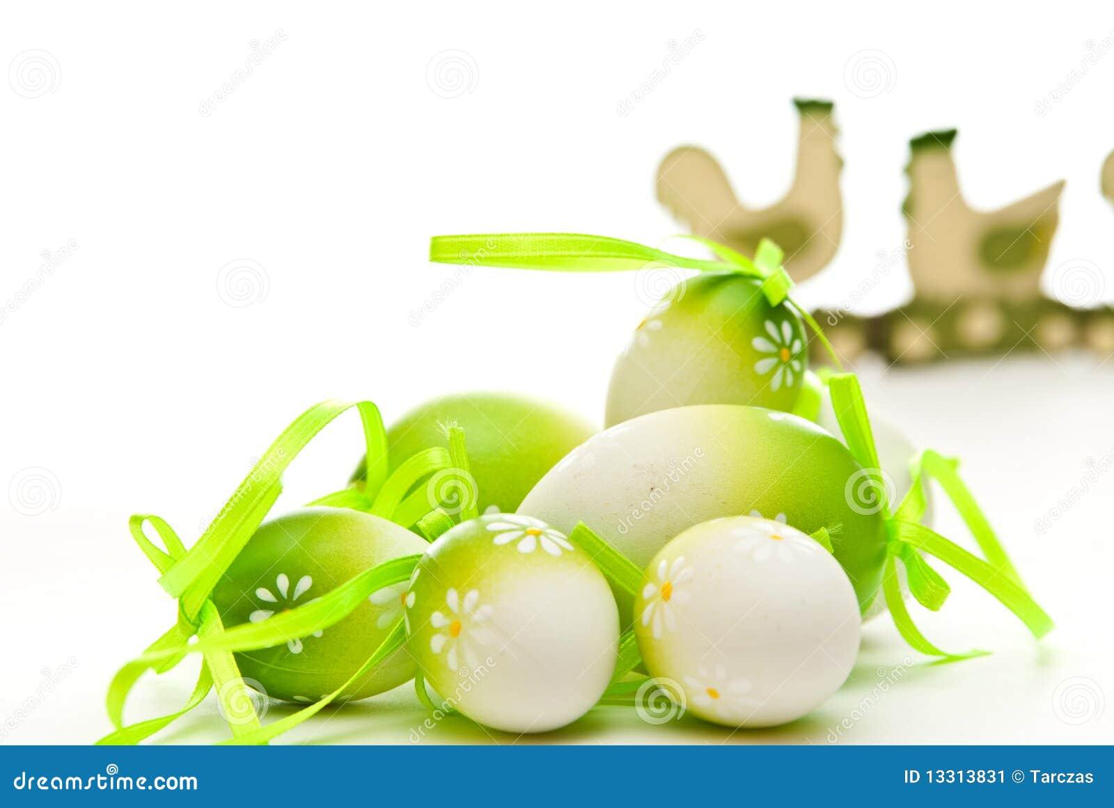 Ovos e galinha de Easter