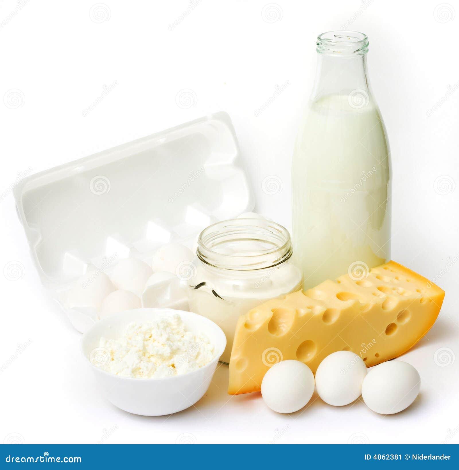 Ovos e produtos lácteos frescos
