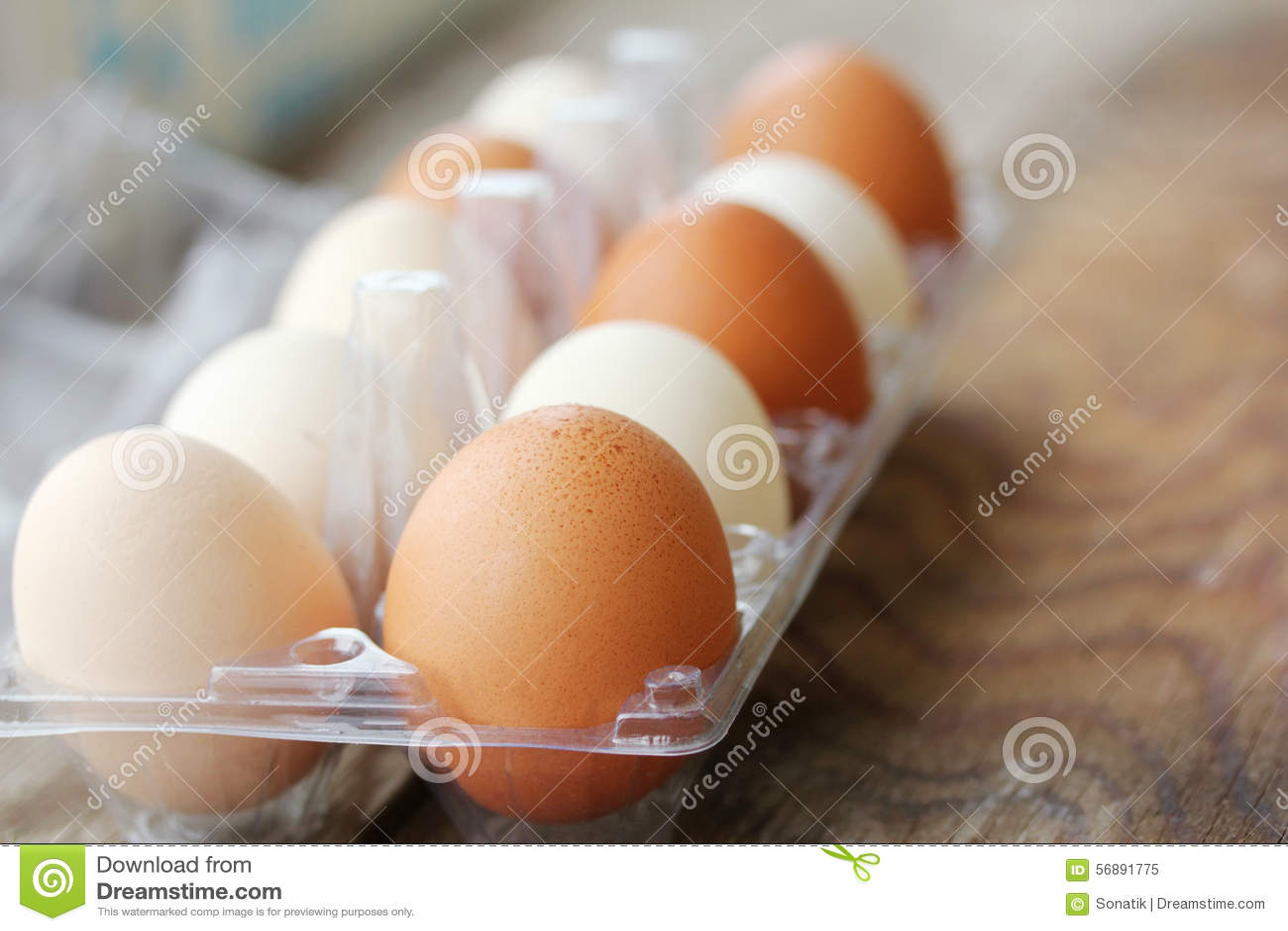 Ovos na embalagem