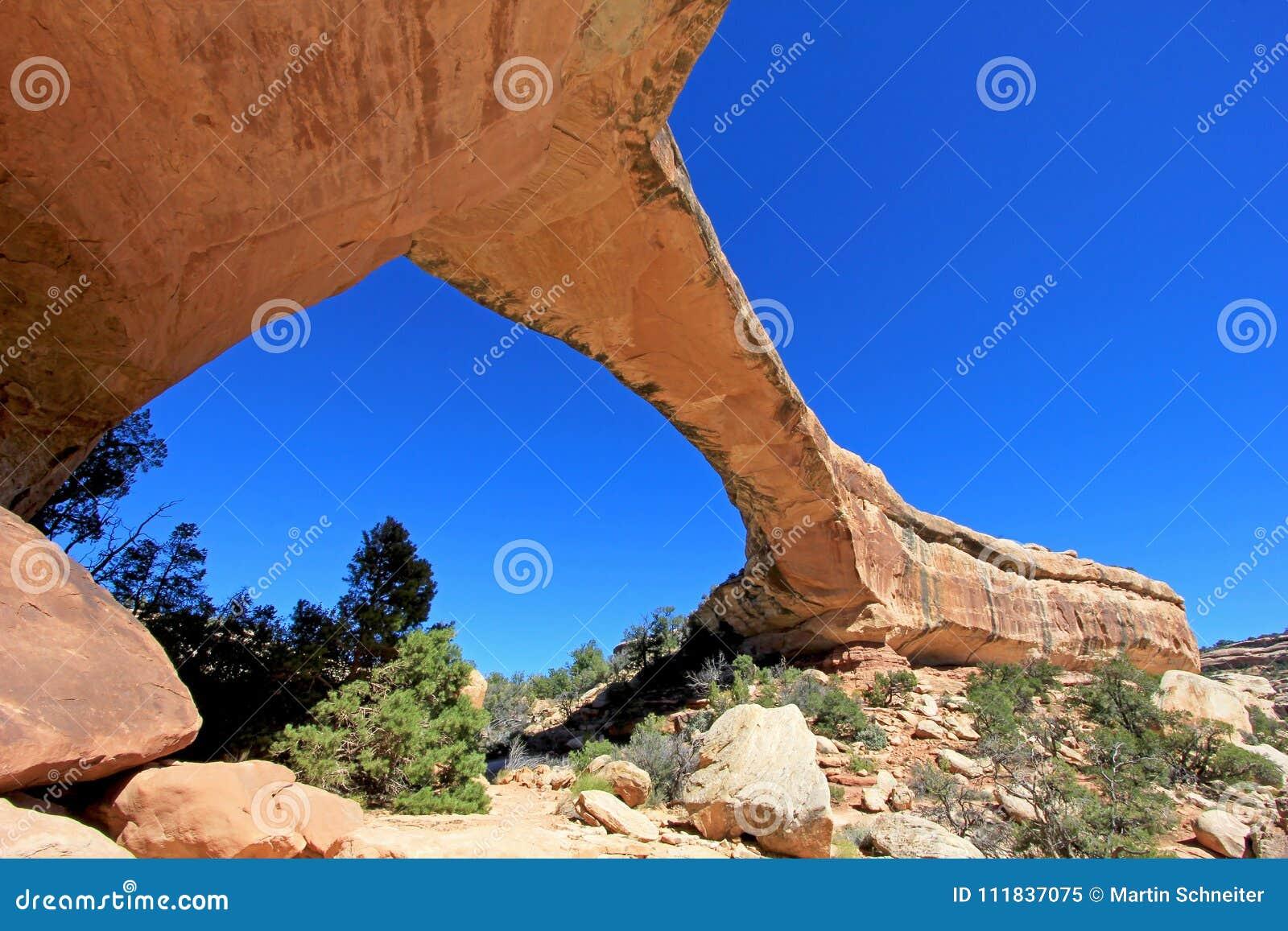 Owachomo bridge or arch in Natural Bridges National Monument, USA