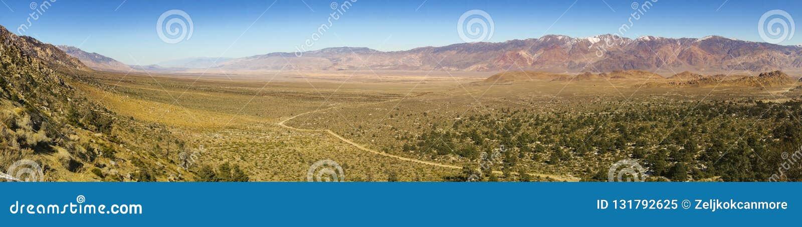 Owens krajobrazu USA Dolinne Panoramiczne równiny Samotny Sosnowy Sierra Nevada Kalifornia