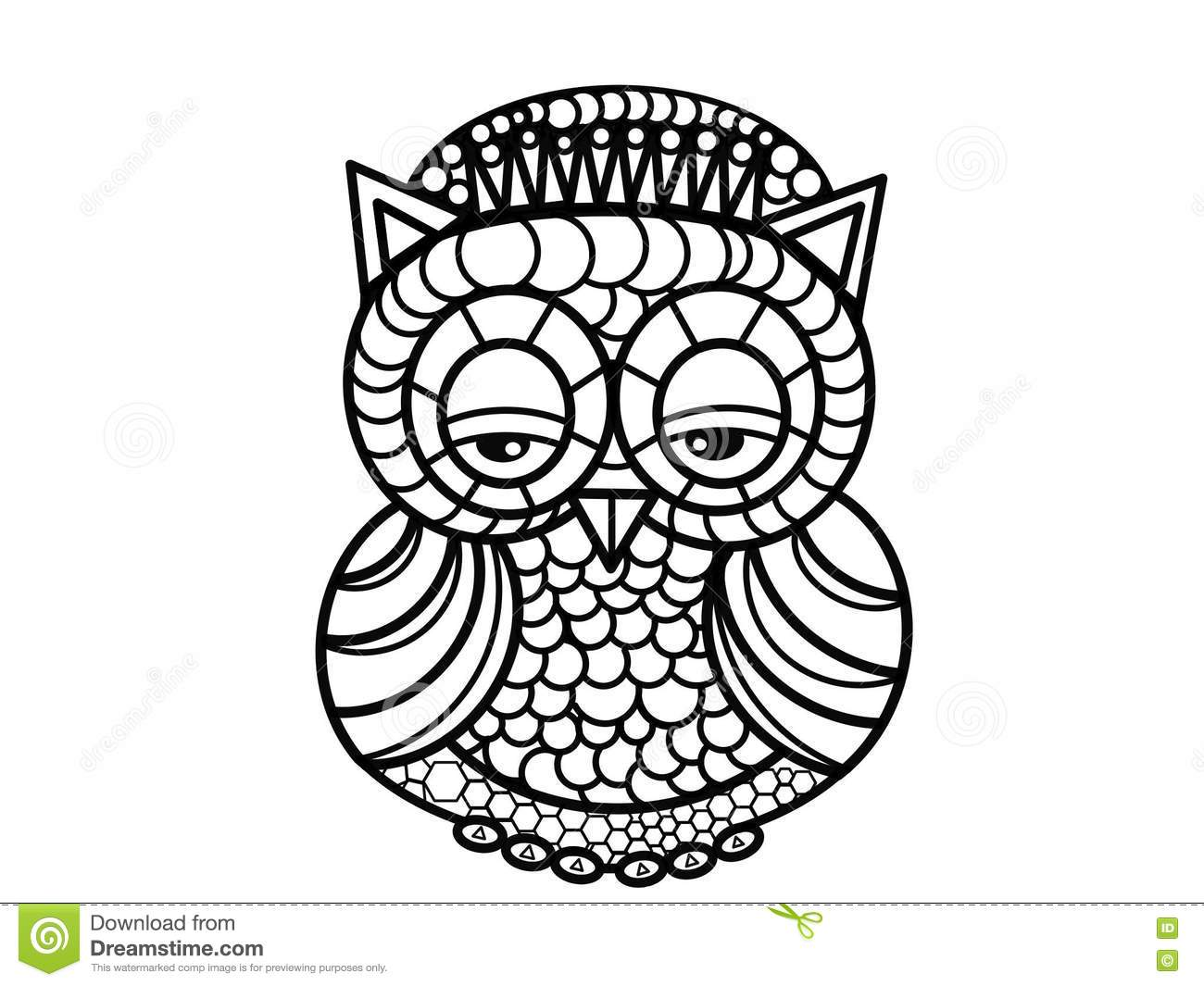Owl Art Therapy Coloring Pages Stock Illustration Image Therapy Coloring Pages 2