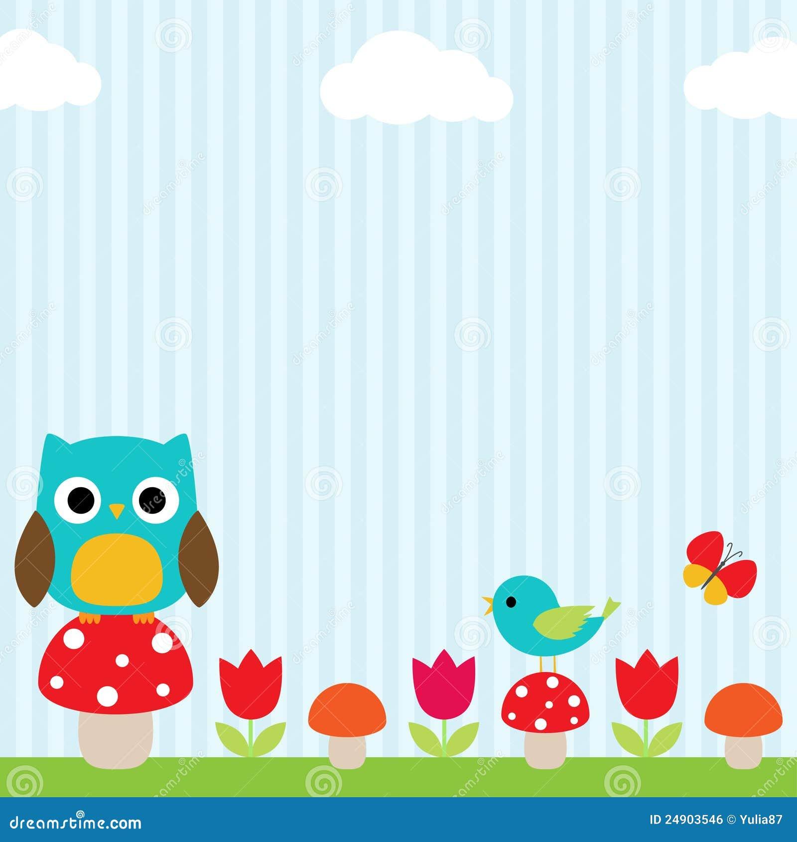 Owl Background Royalty Free Stock Image - Image: 24903546