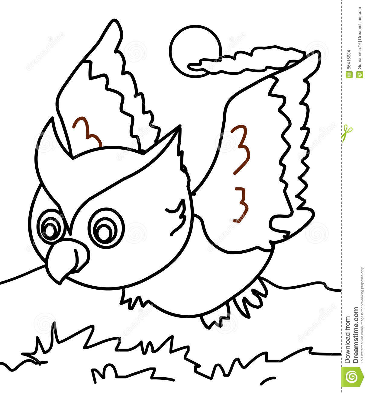 Bird Book Coloring Kids Page