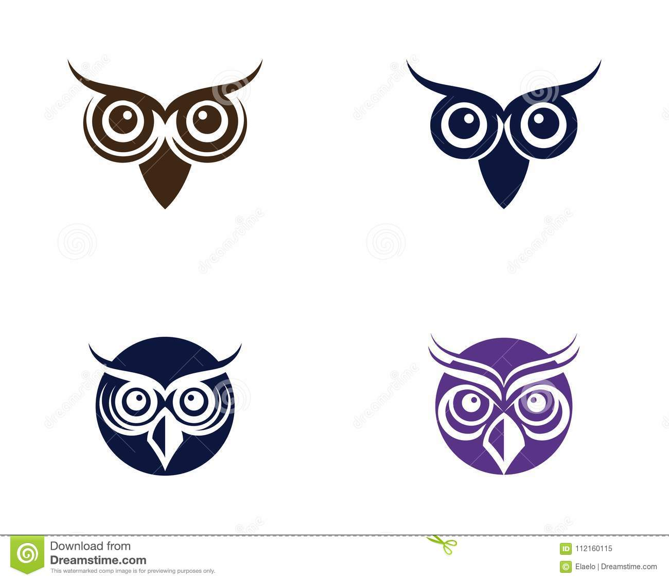 Owl Bird Illustration Logo Template
