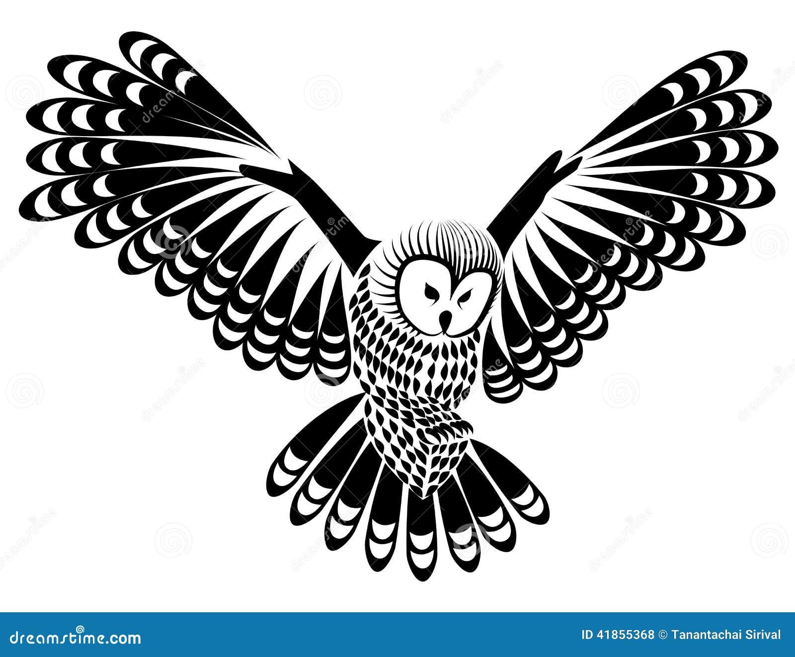 owl bird for mascot or tattoo design or idea of logo stock Baby Owl Clip Art cute owl border clipart free