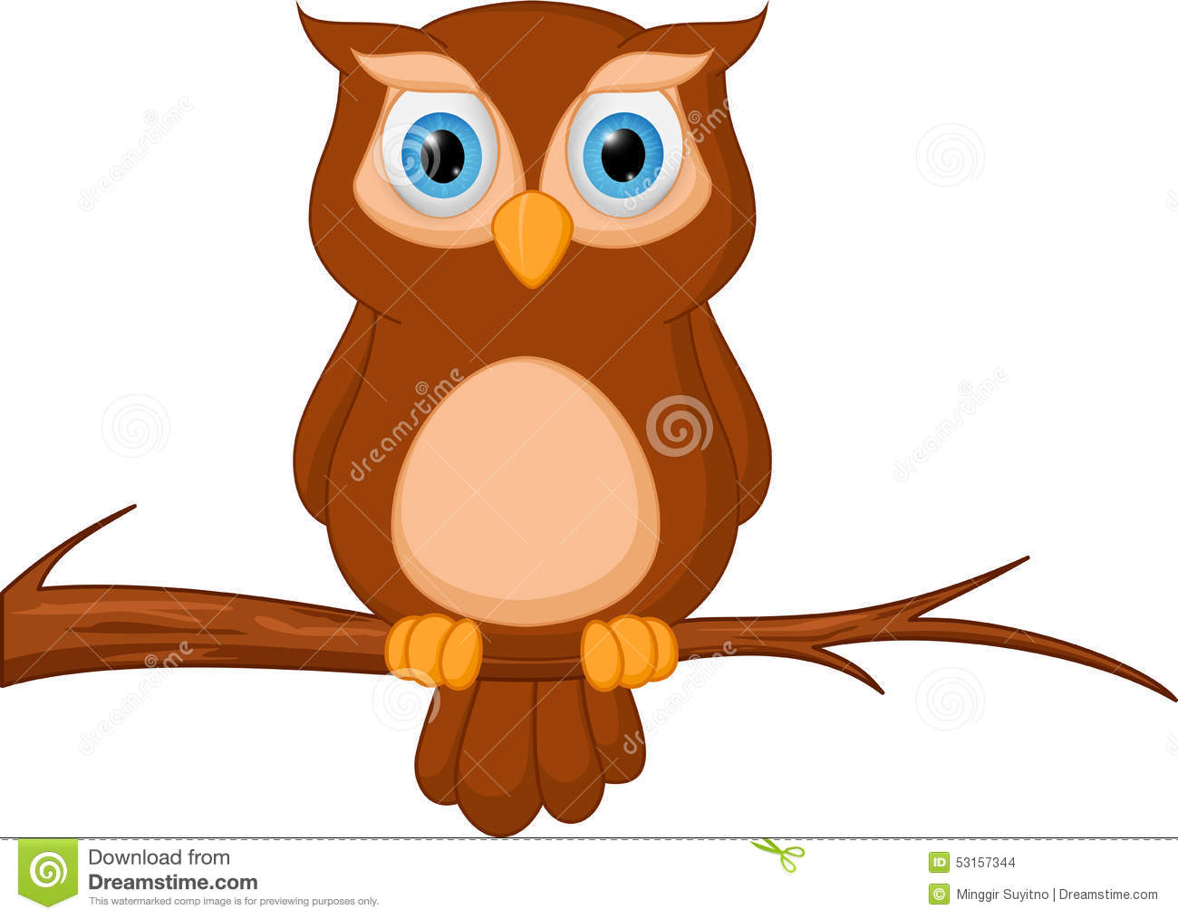 owl cartoon standing on tree stock vector image 53157344 wise old owl clip art free Vintage Owl Clip Art