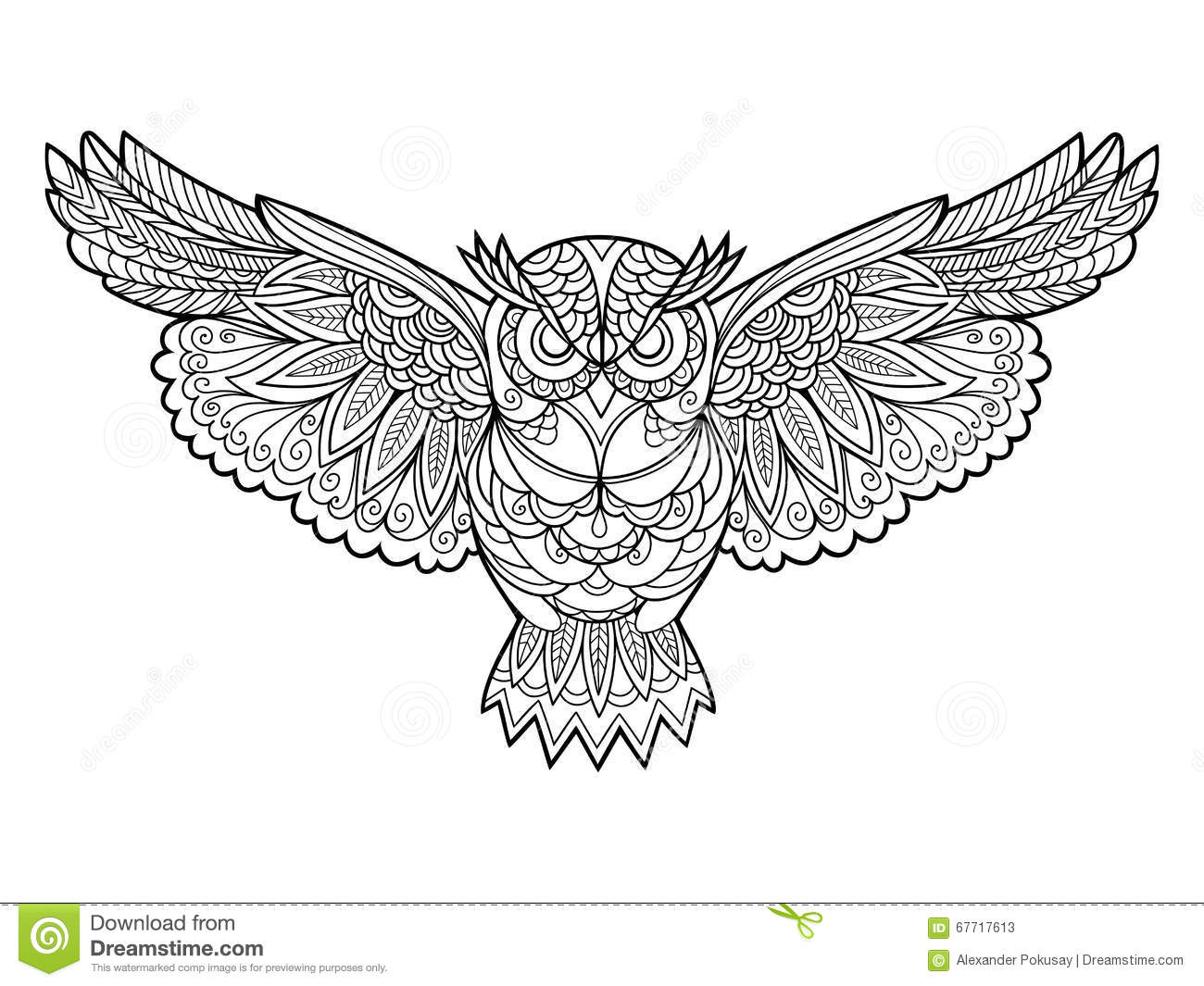 Favoriete Owl Coloring Book For Adults Vector Stock Vector - Illustration of @BE38