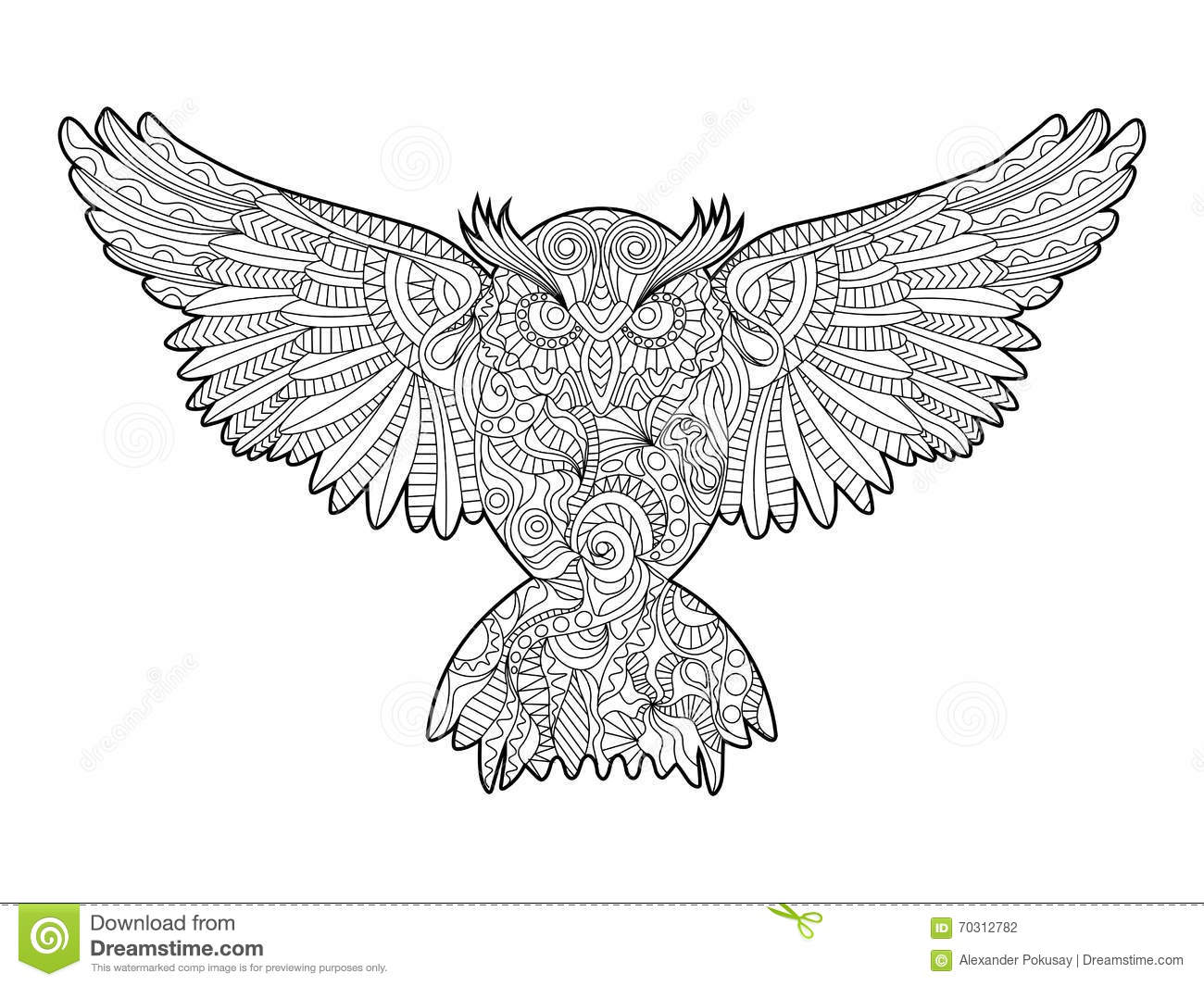 Zen coloring books for adults app - Royalty Free Vector Download Owl Coloring Book For Adults