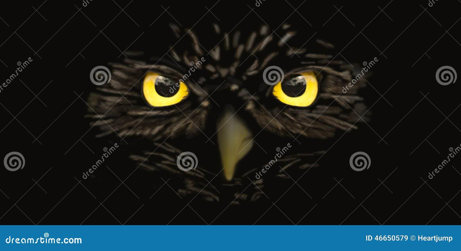 Owl In Black Cartoon Vector | CartoonDealer.com #30825467