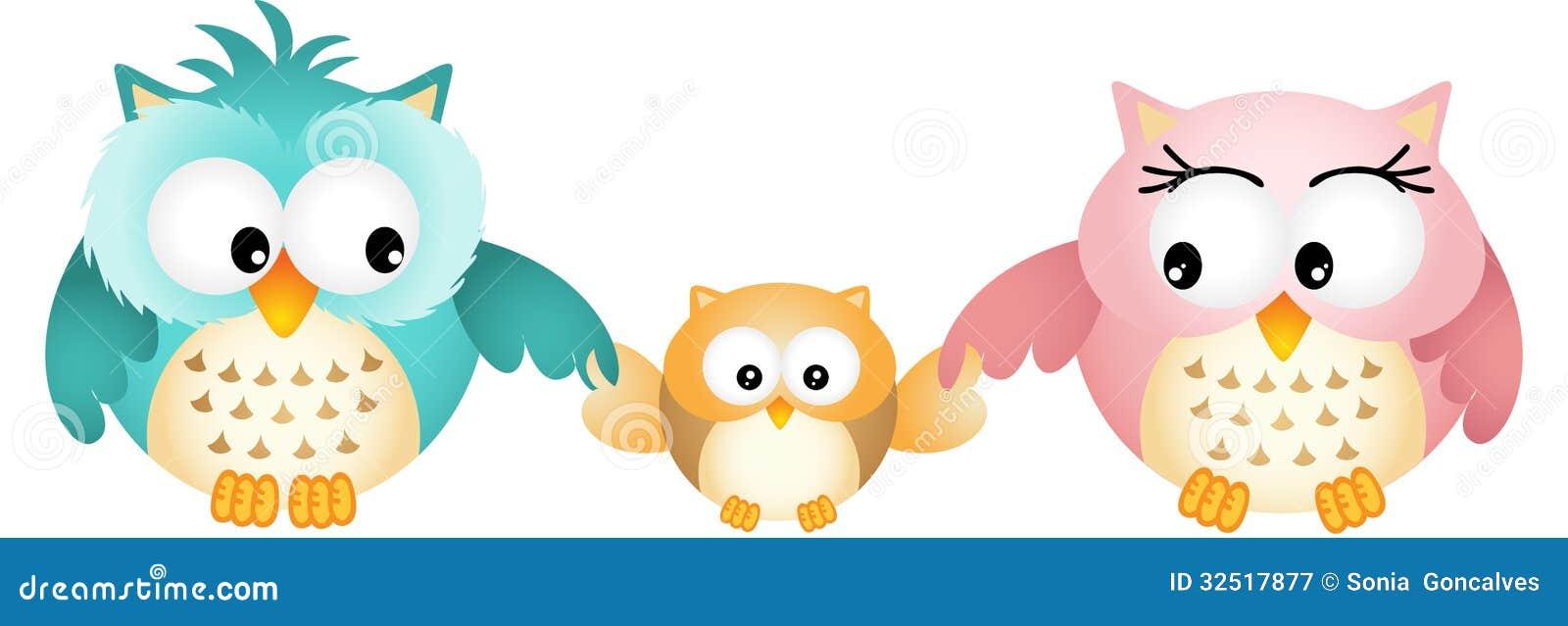 Owl Family felice