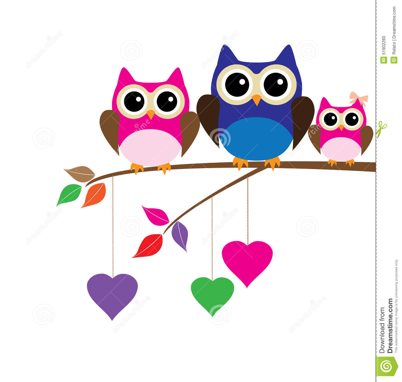 owl family stock vector image 51902280 baby owl on branch clip art owl on branch clipart black and white