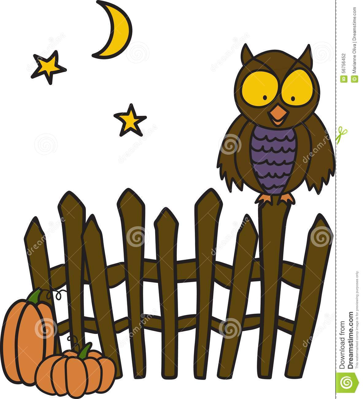 Owl Canisters For The Kitchen Owl On Fence Stock Illustration Image 56756452