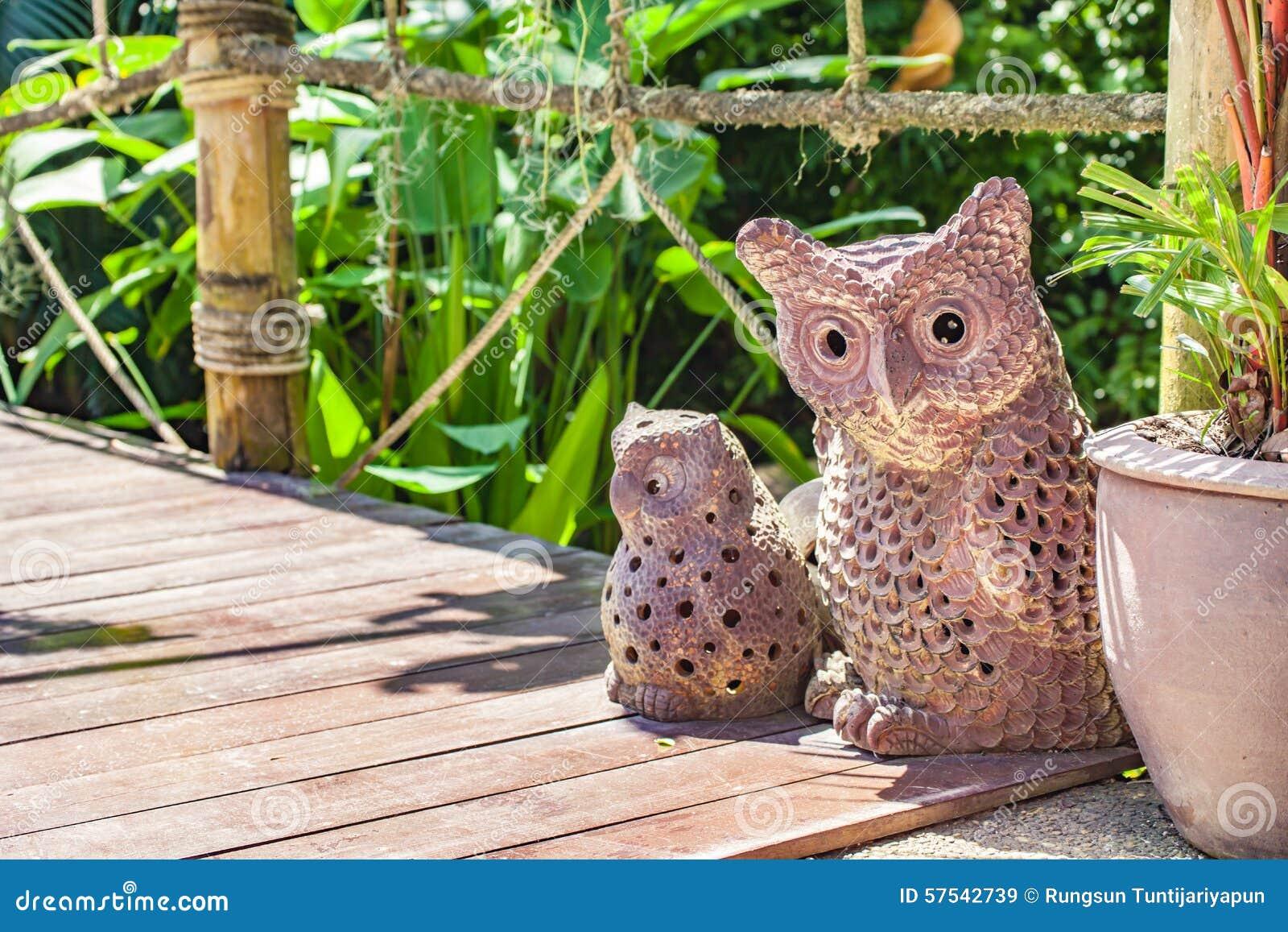 Download Owl Garden Decor Stock Image. Image Of Terracotta, Single    57542739
