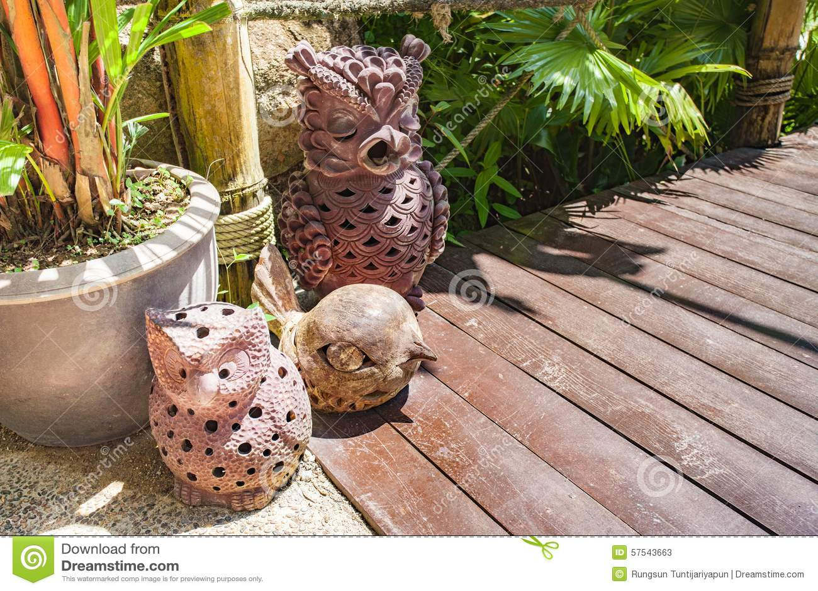 Download Owl Garden Decor Stock Image. Image Of Design, Stick   57543663