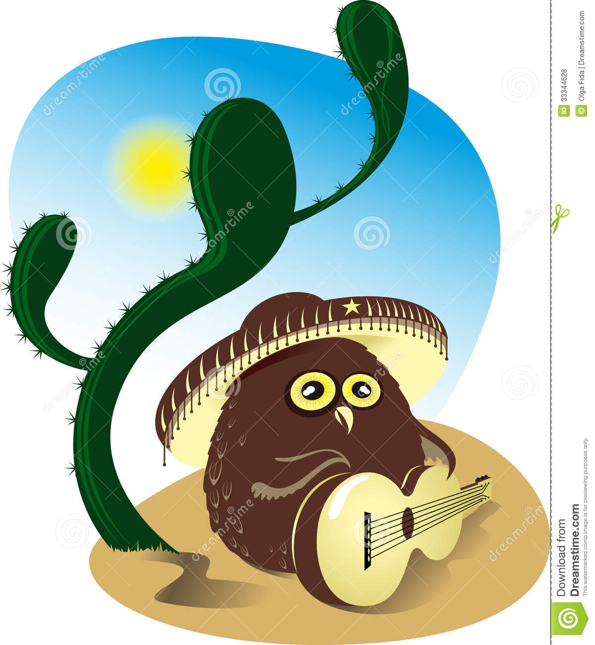 owl playing the guitar - photo #25