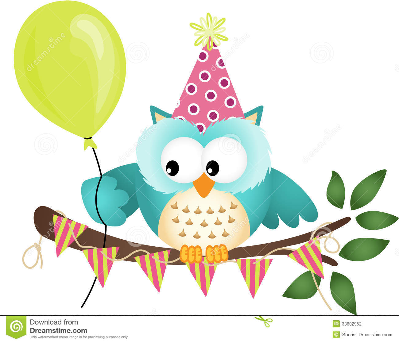 owl happy birthday stock photography image 33602952 Owl In-Flight Drawing Owl Wings Clip Art