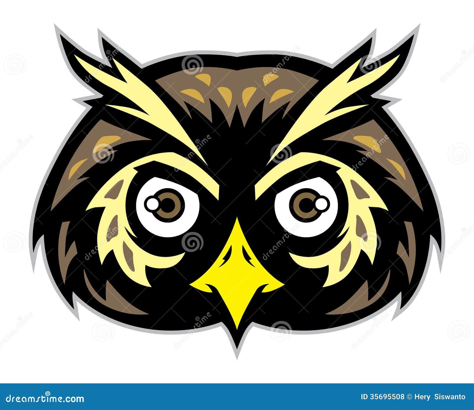 Owl Head Mascot Royalty Free Stock Photos - Image: 35695508