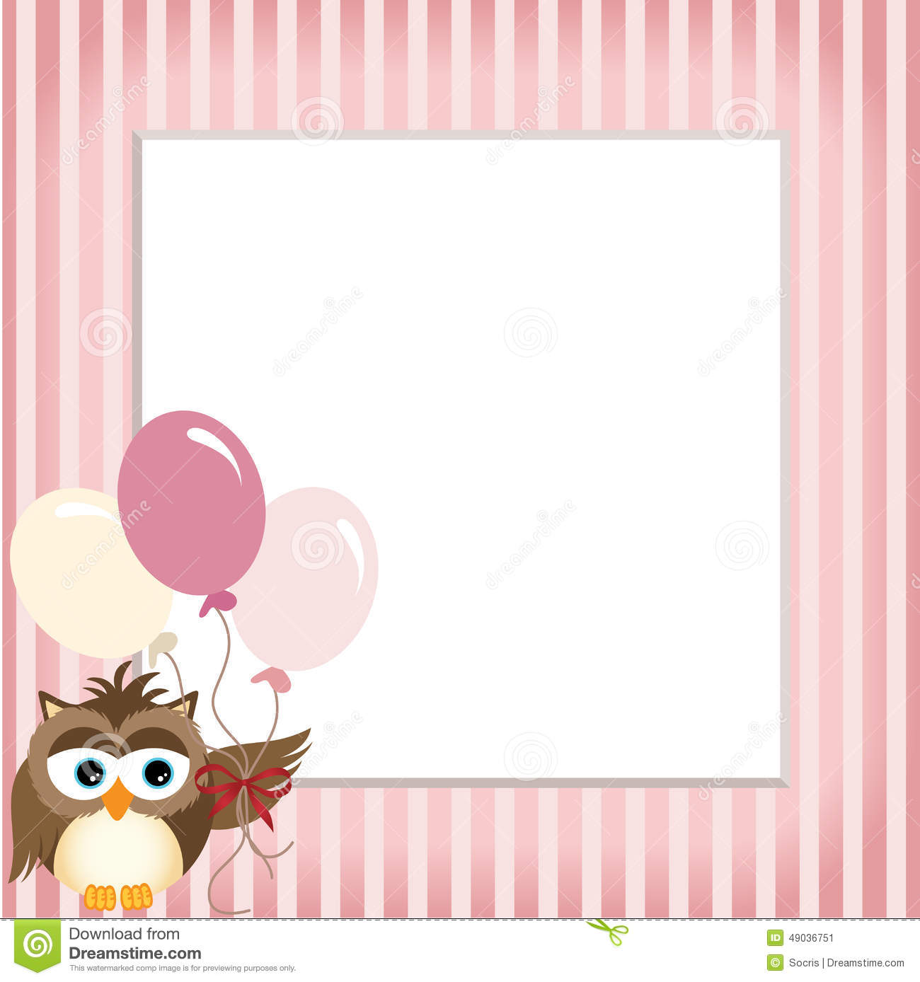 owl holding balloons in a baby pink frame stock vector pink owl clip art free pink and grey owl clip art
