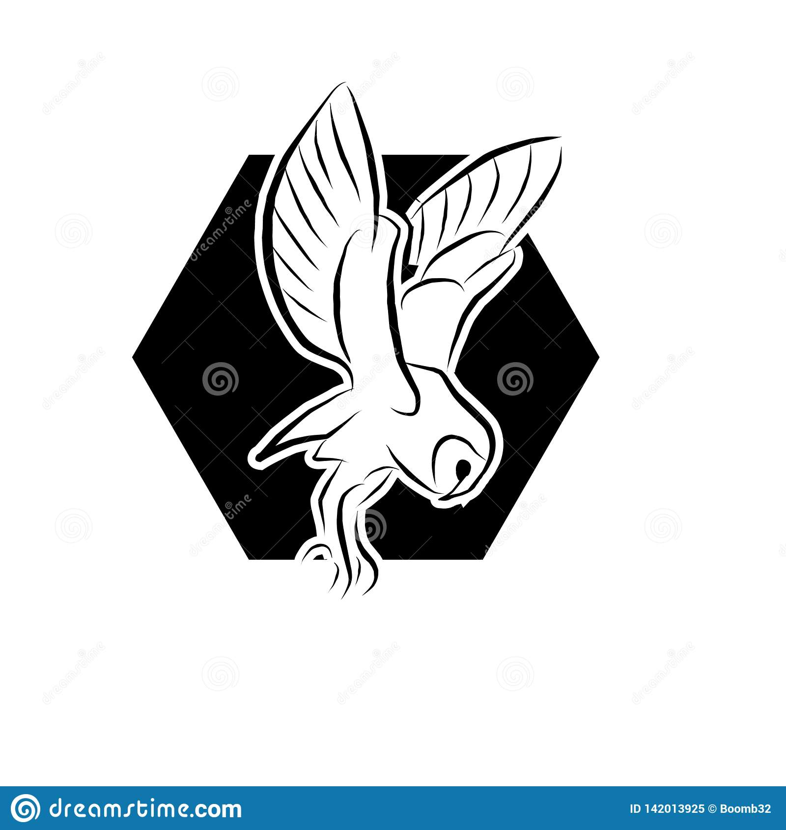 Owl icon vector in modern flat style for web, graphic and mobile design.