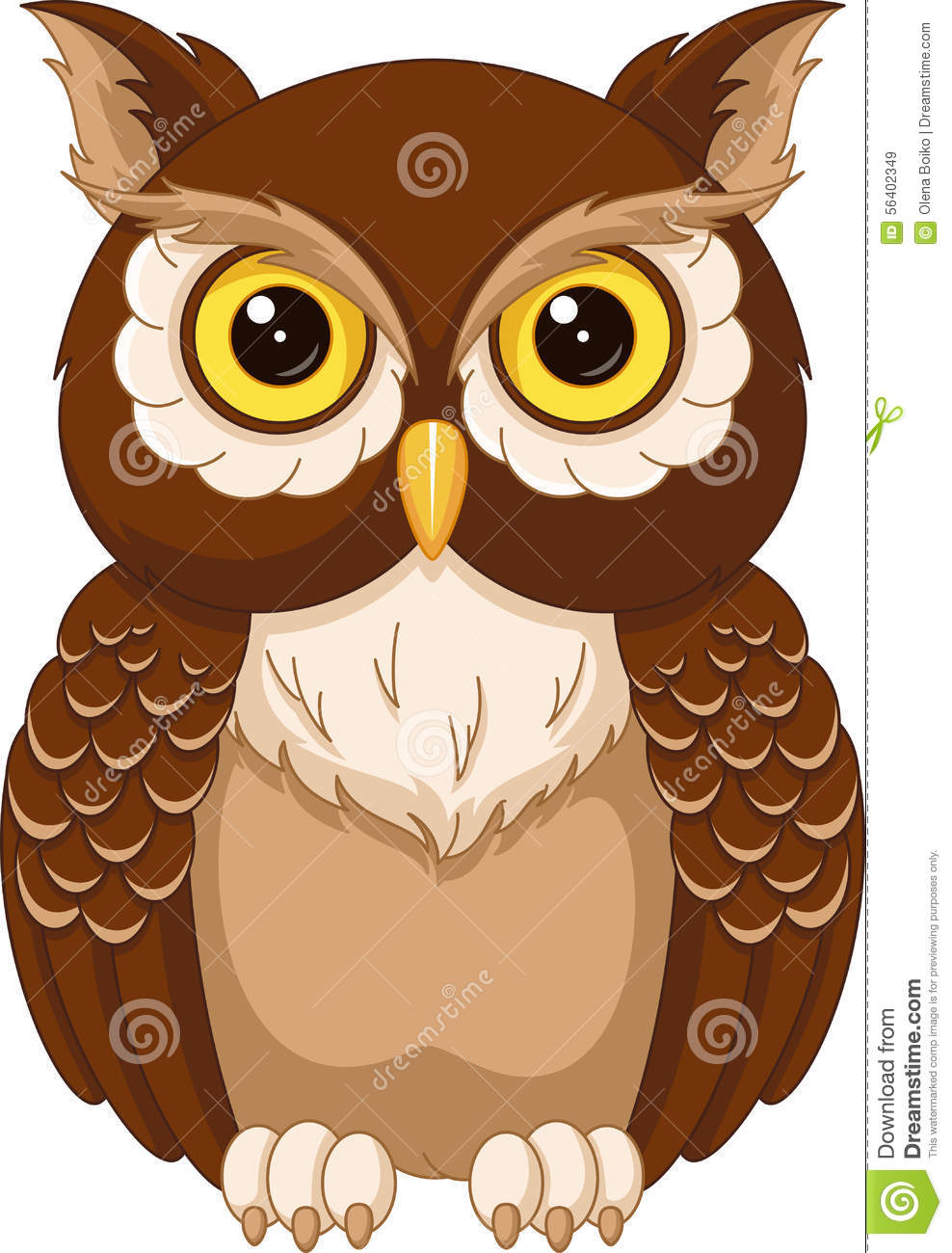 Owl Stock Vector Illustration Of Cartoon Wise