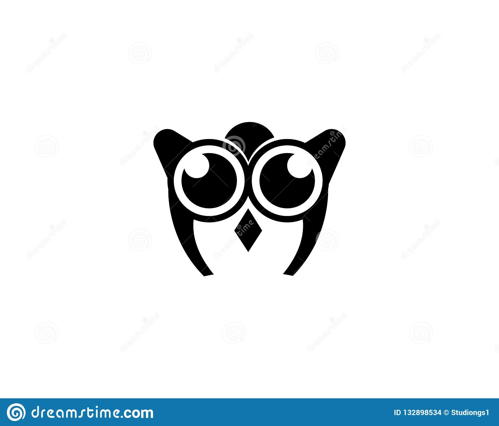 Image of: Nocturnal Media Owl Logo And Symbol Template Dribbble Owl Logo And Symbol Template Stock Photo Image Of Template