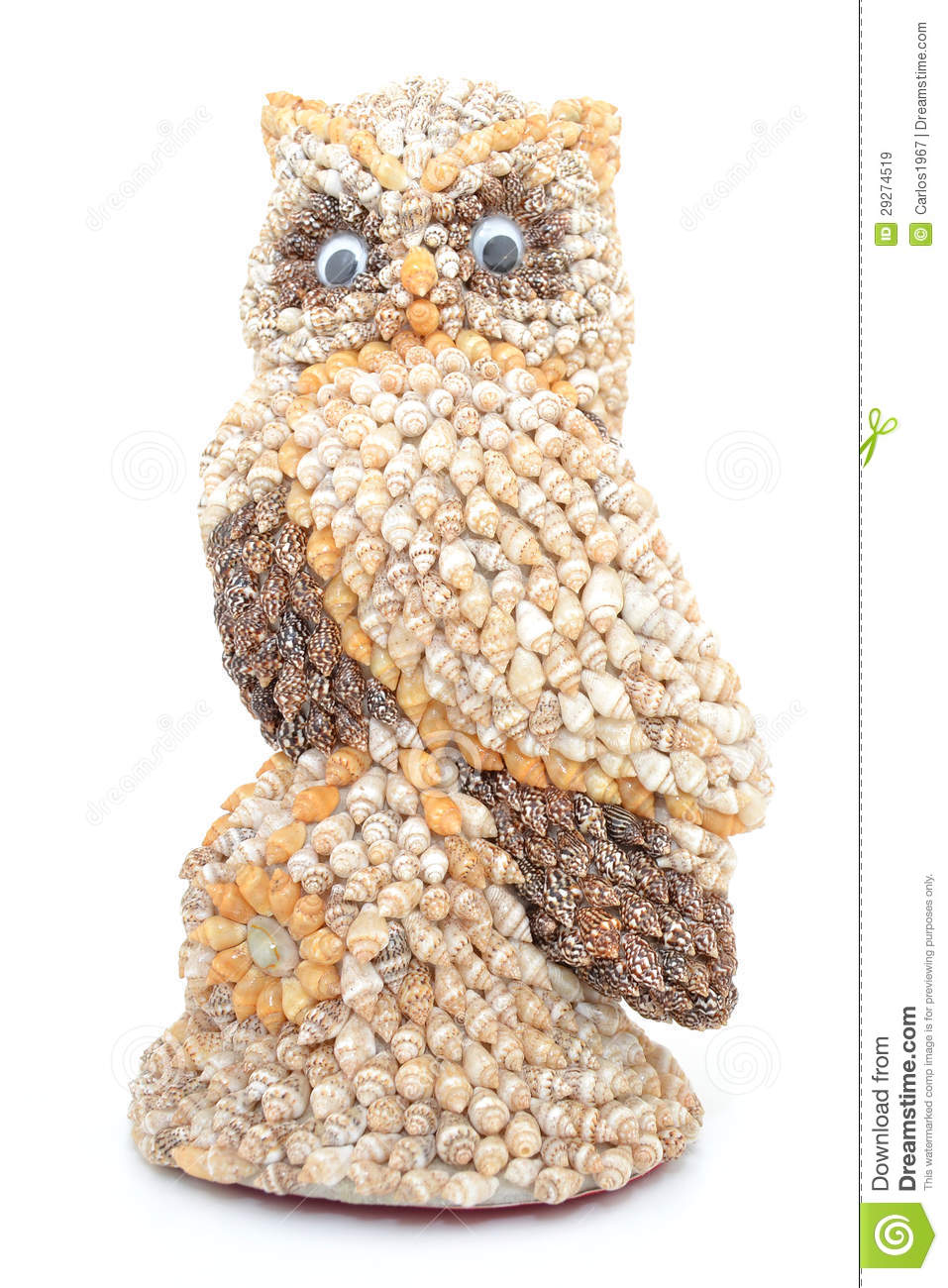 Owl made with shells royalty free stock images image for What are shells made of