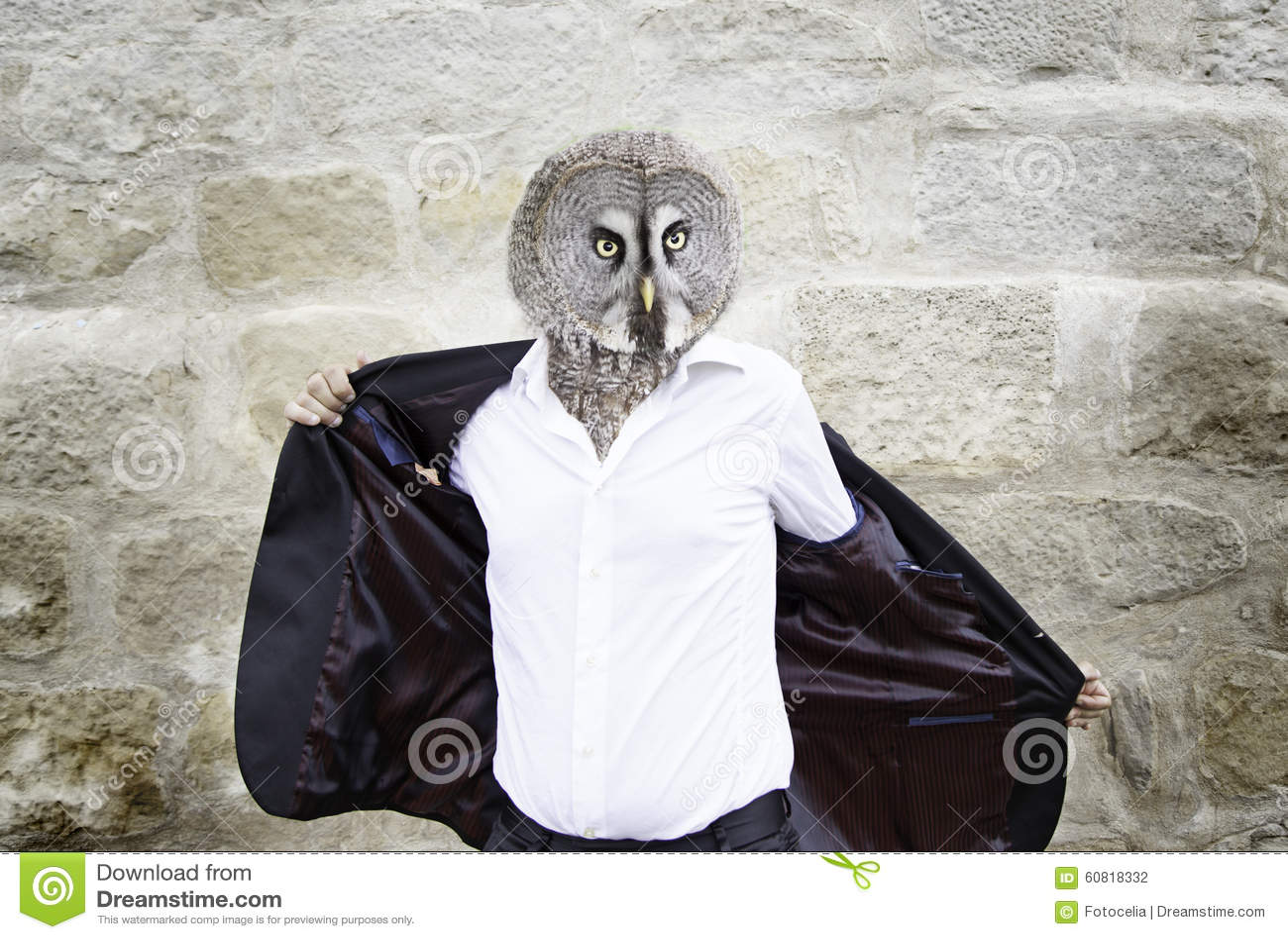 Owl Man Stock Photo Image 60818332