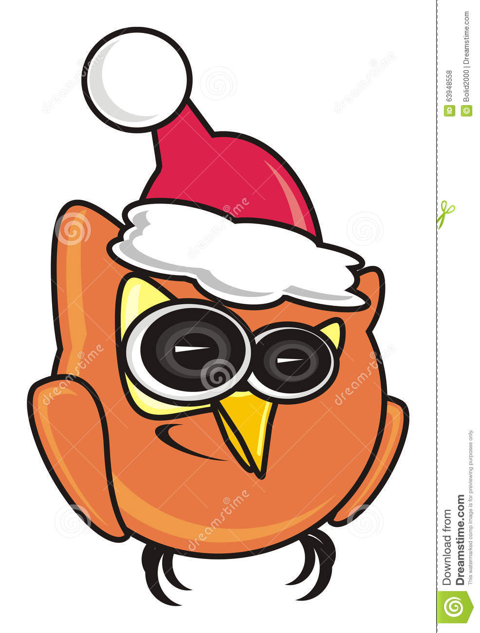 owl in the new year s cap
