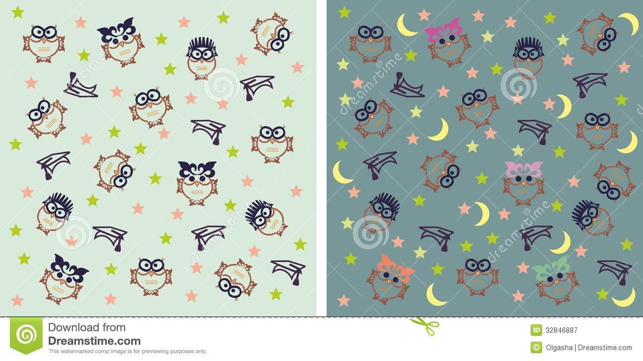 Kids at night with moon royalty free stock photography image - Owl Night Background Royalty Free Stock Photography Background Children Moon