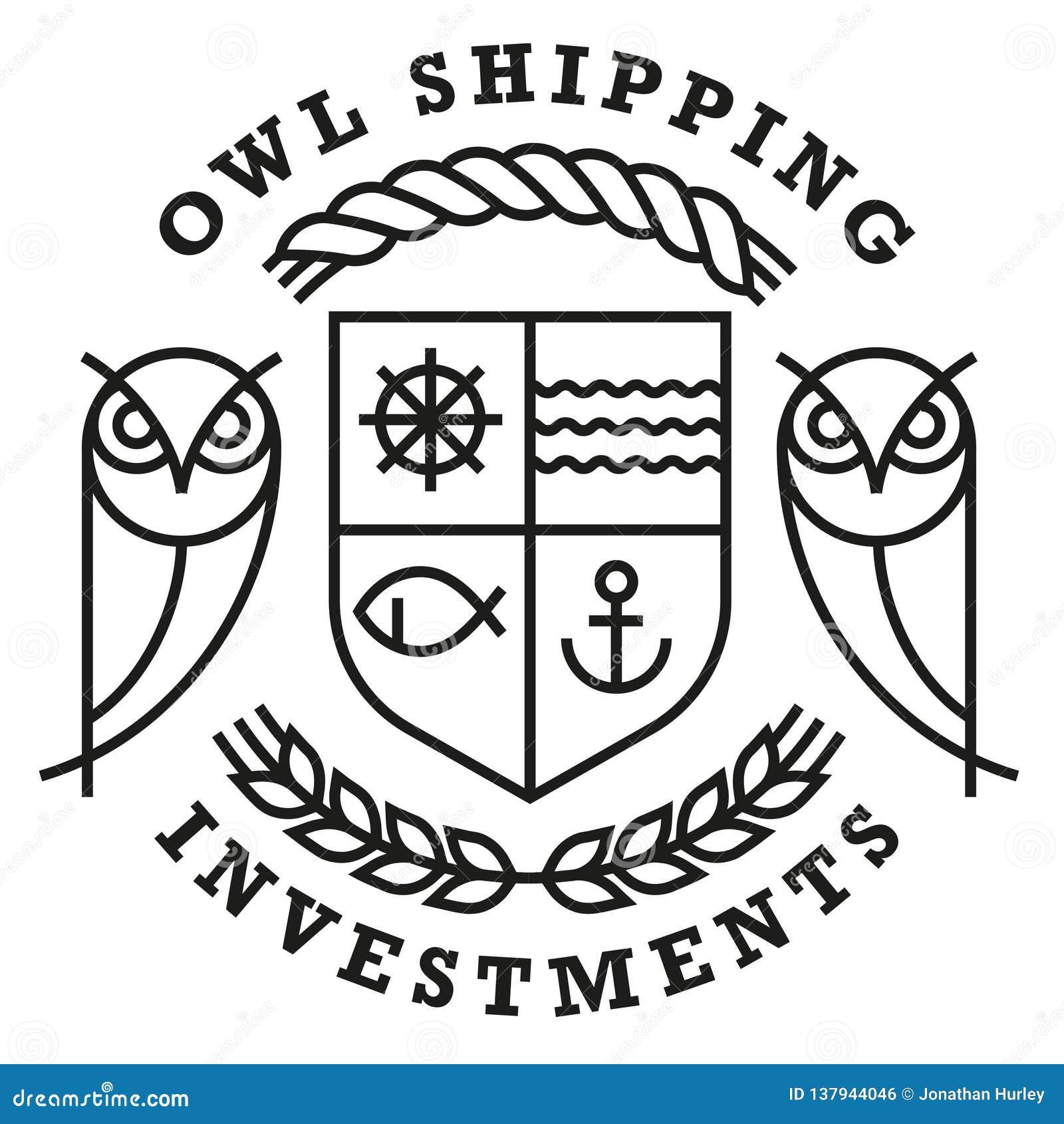 Owl Shipping Logo Template