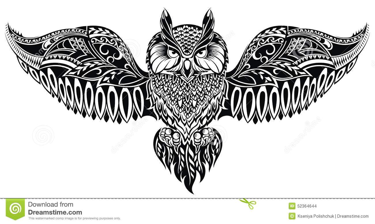 Owl In Tattoo Style