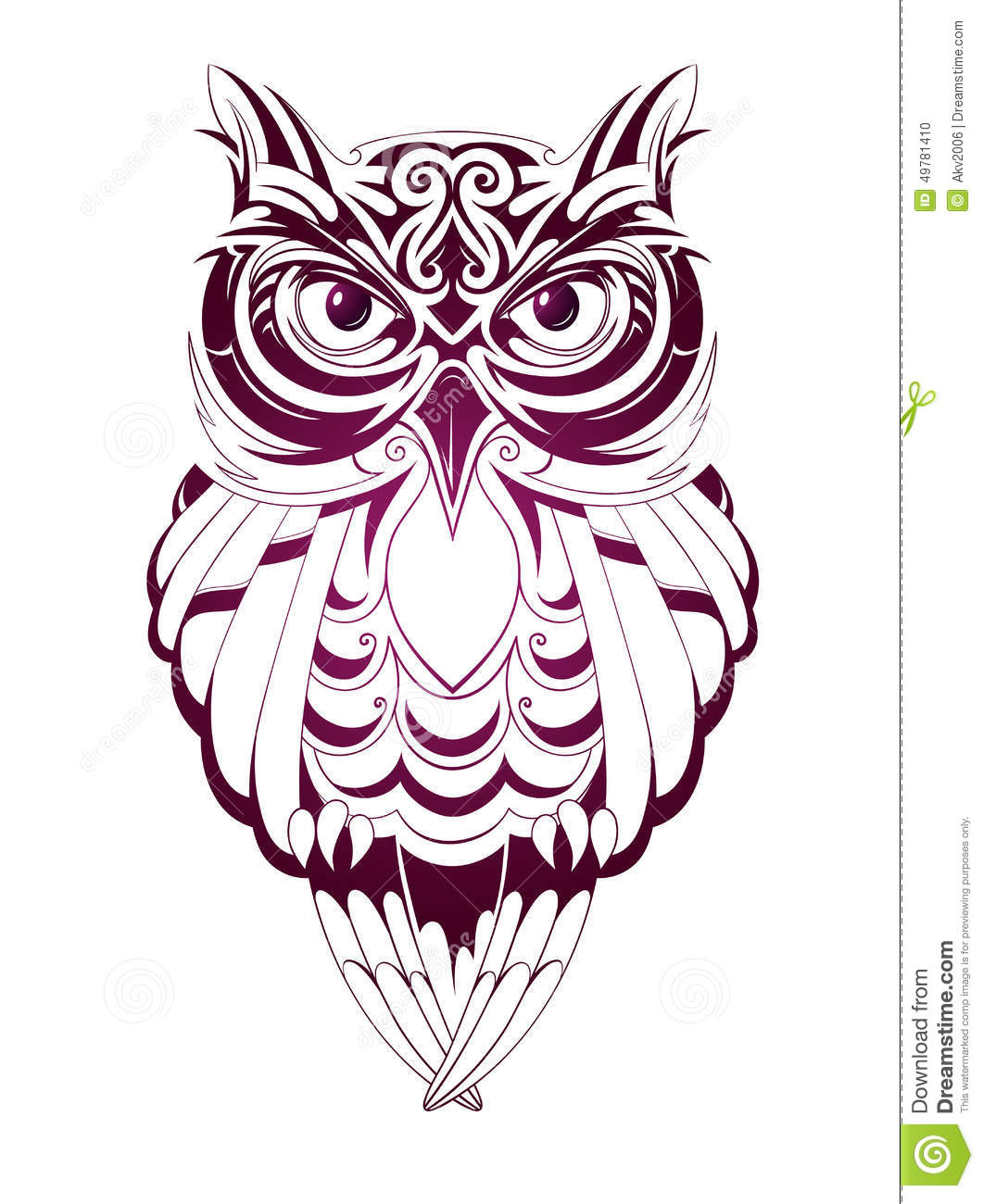 Illustration Tattoos: Owl Tattoo Stock Vector