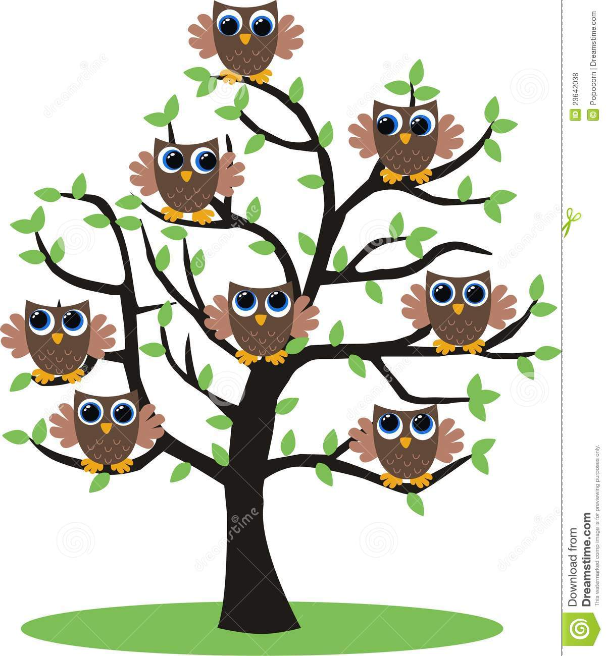 Bird And Tree Wall Stickers Owl Tree Royalty Free Stock Photos Image 23642038