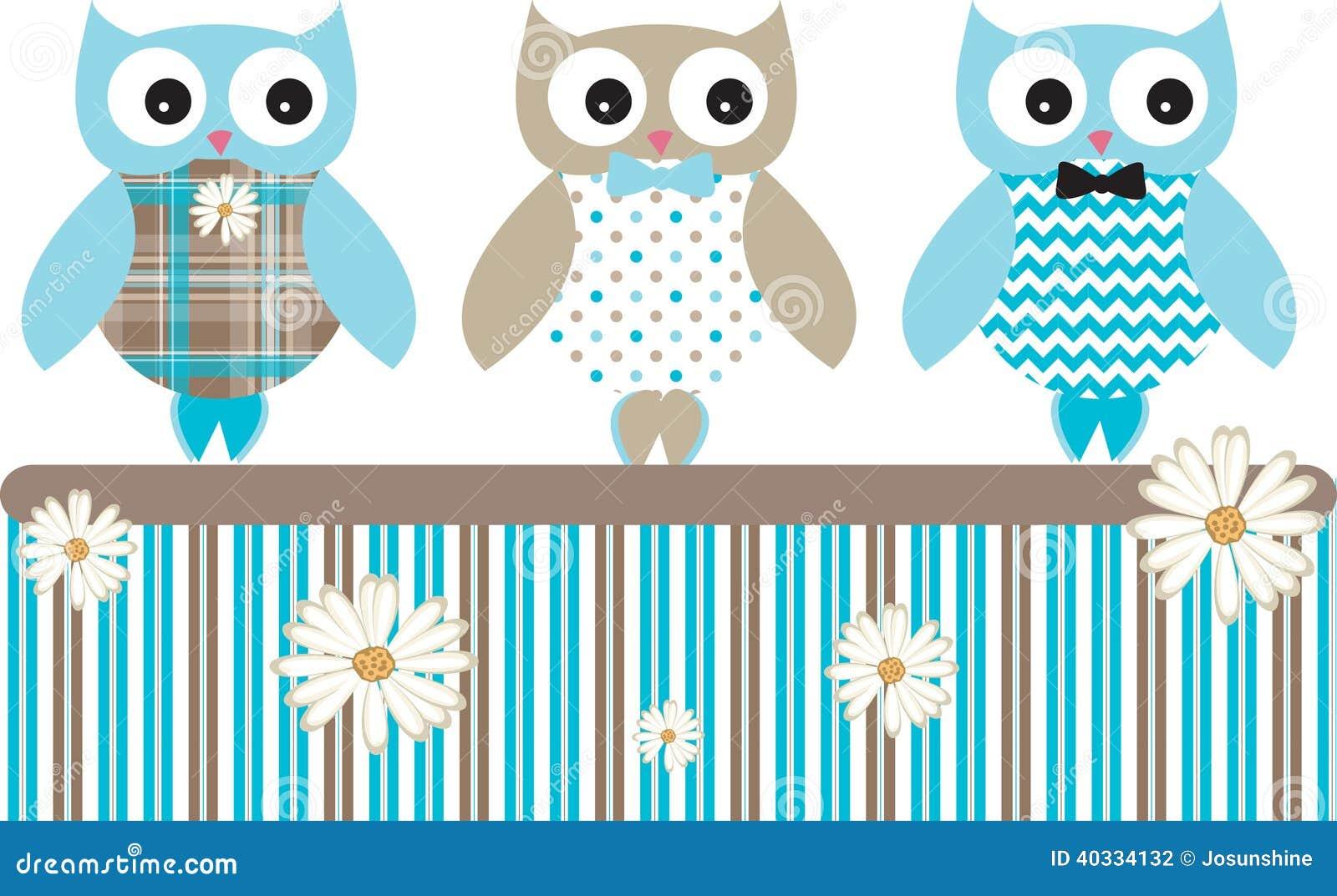 Owl Vetora Patterns Fence bonito