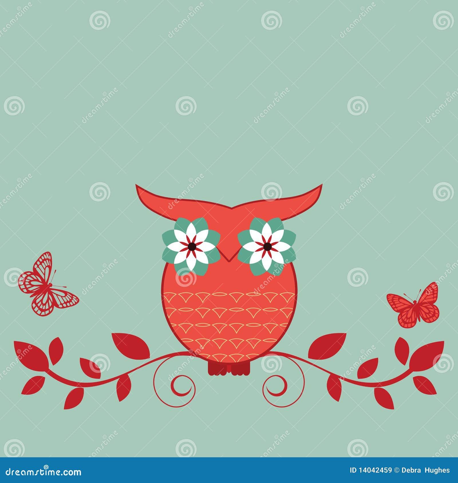 Owl on a vine