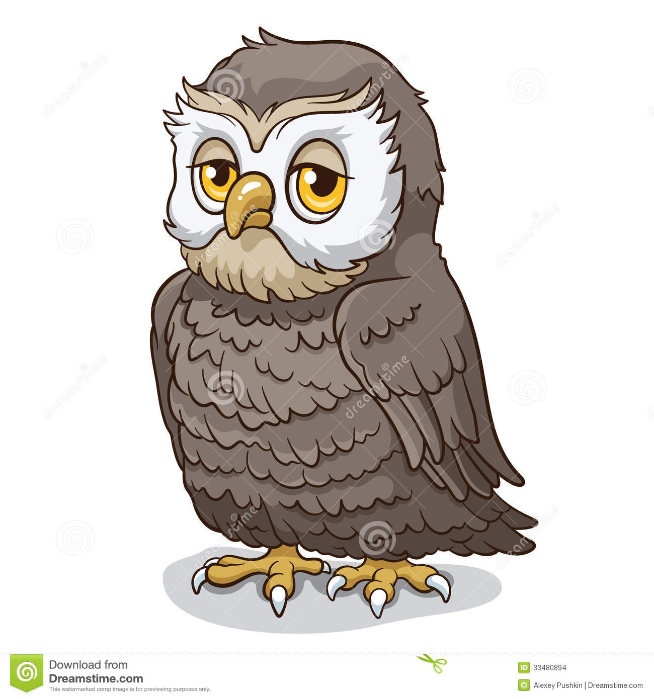 Wise Owl, cartoon vector illustration.