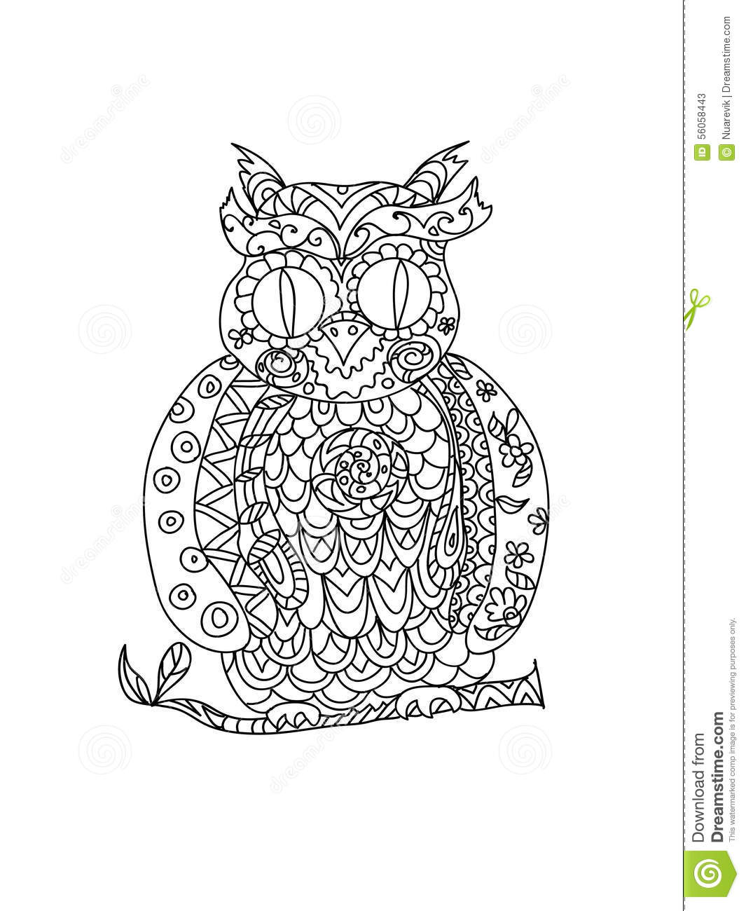 zentangle owl coloring pages - photo#10