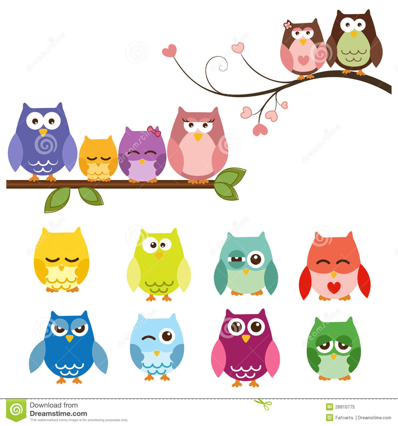Owls Stock Vector Illustration Of Doodle Face Cute 28910775
