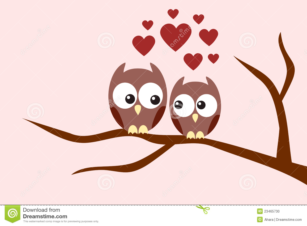 Cute owl love drawing - photo#19