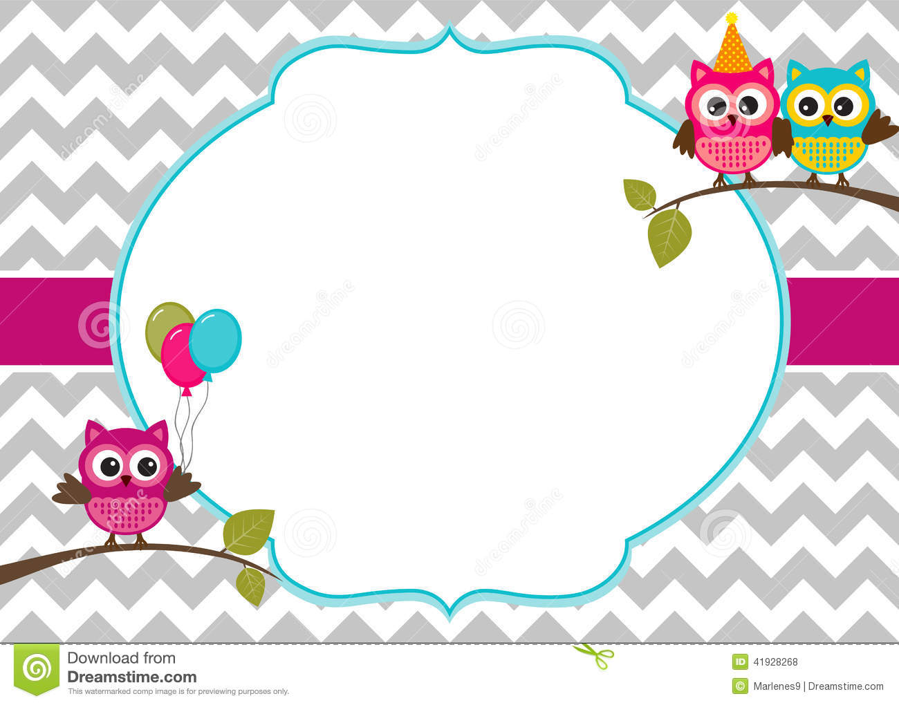 owls invitation template stock vector illustration of card 41928268