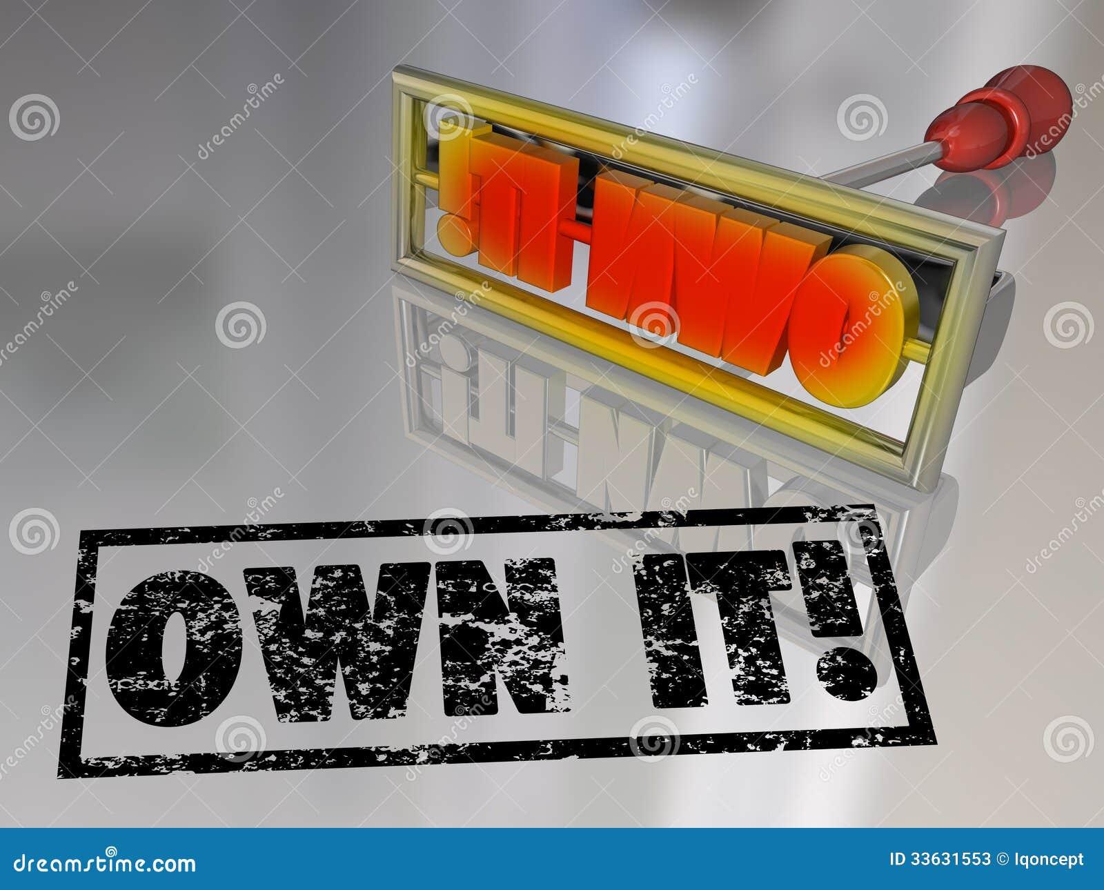 Own It Branding Iron Ownership Claim Responsibility