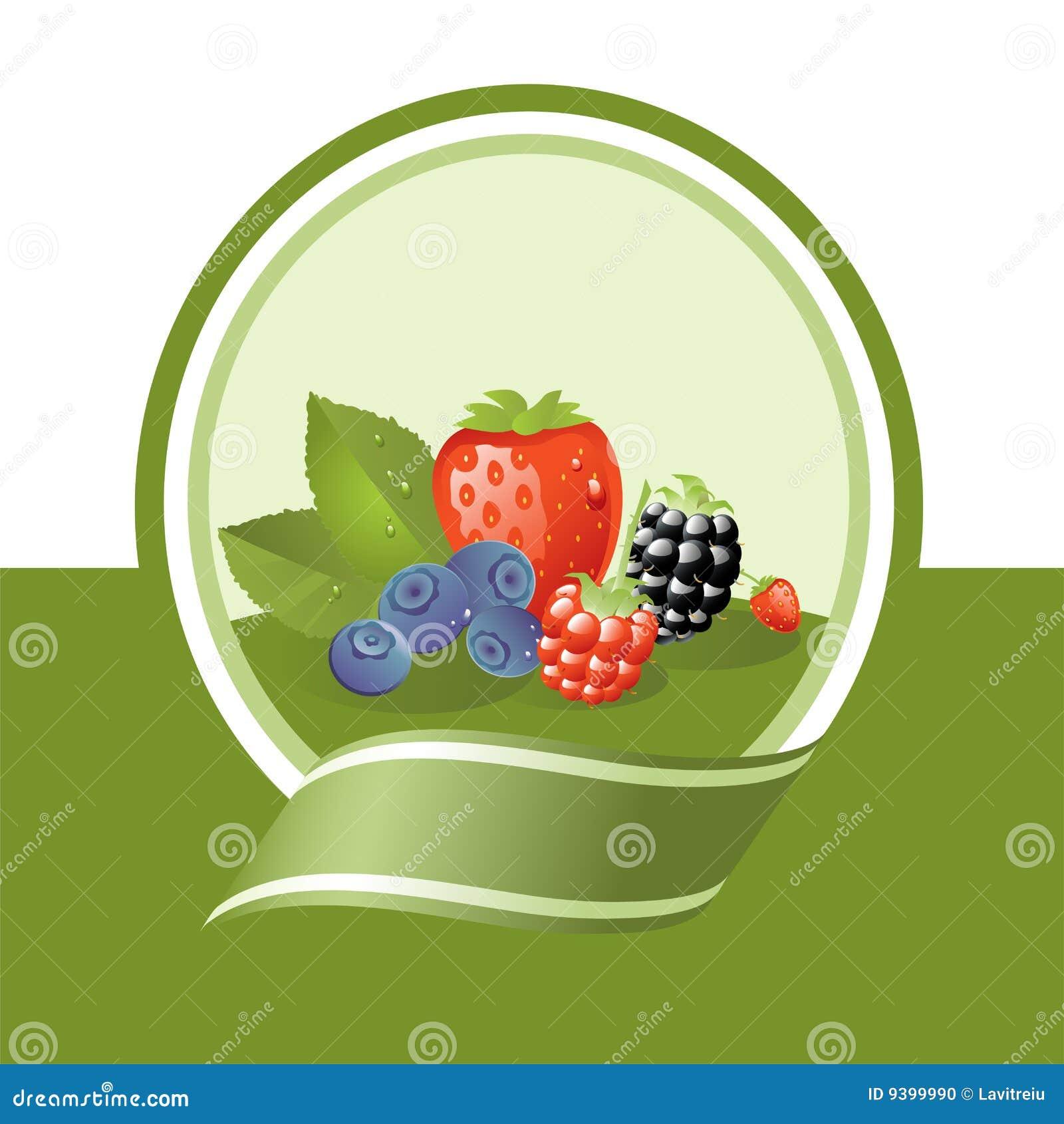 Owoc świeża etykietka