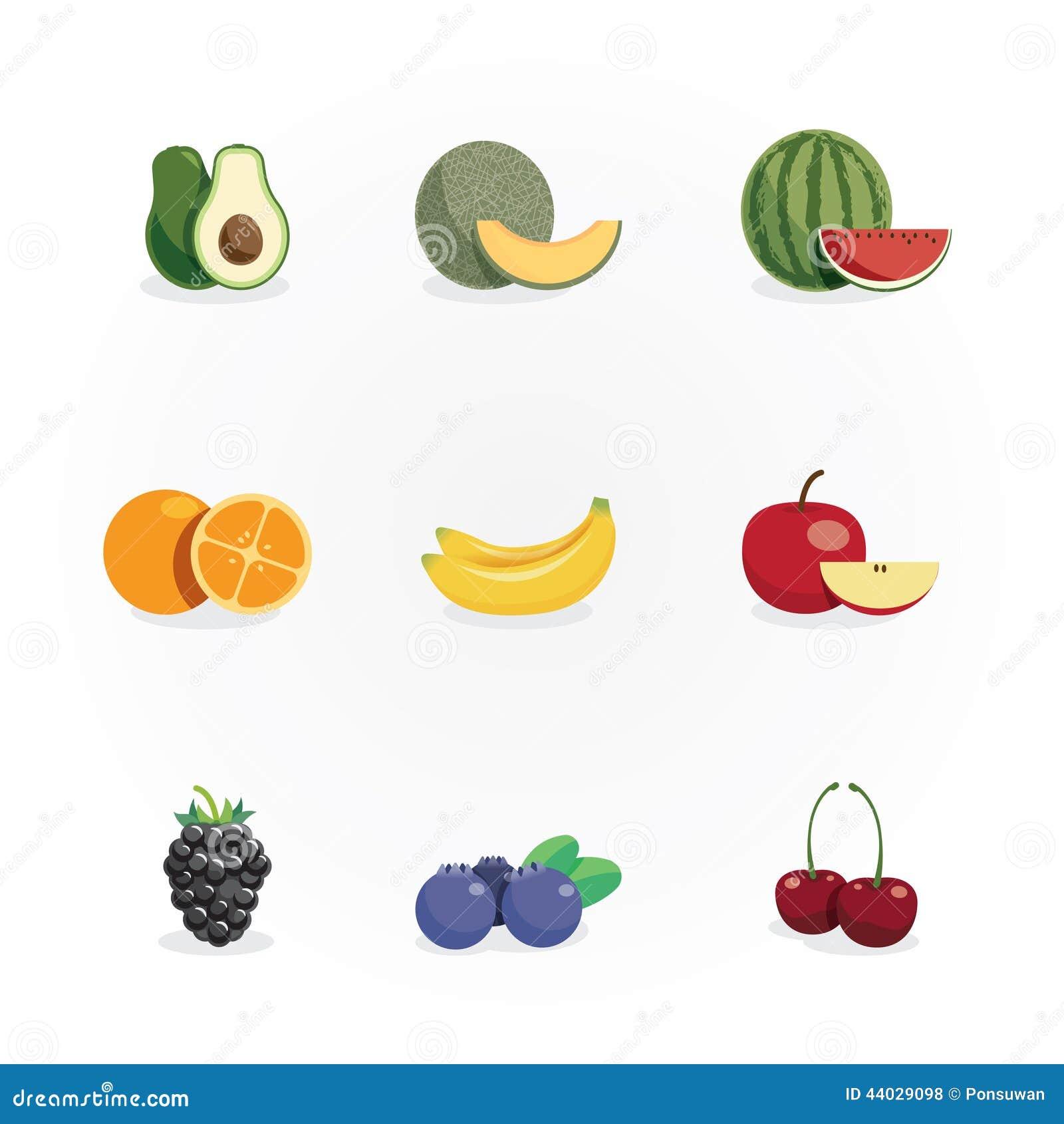 Owoc ikon colour projekta wektor