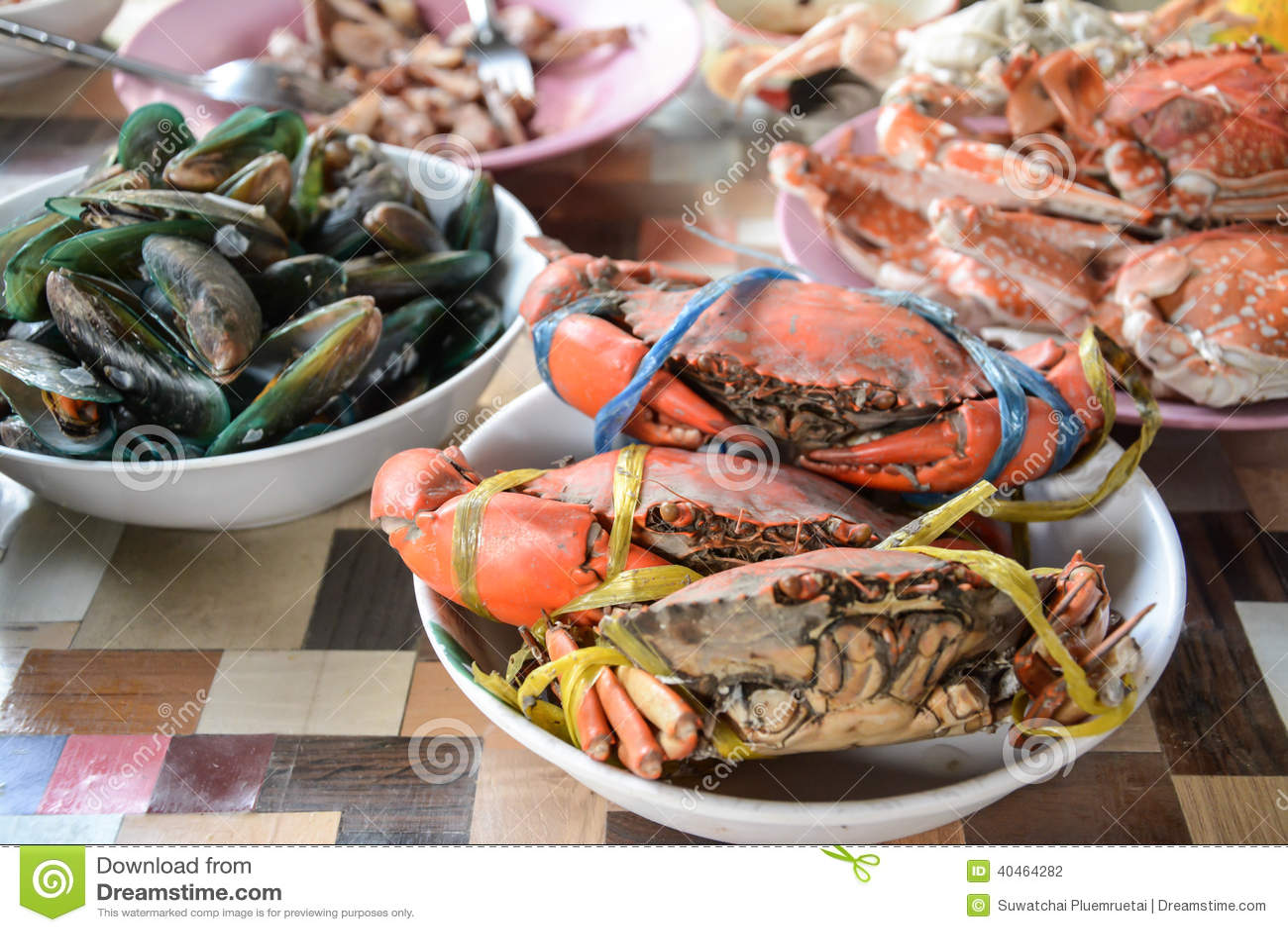 Owoce Morza Mieszanka Tajlandia Zdjęcie Stock Obraz Złożonej Z