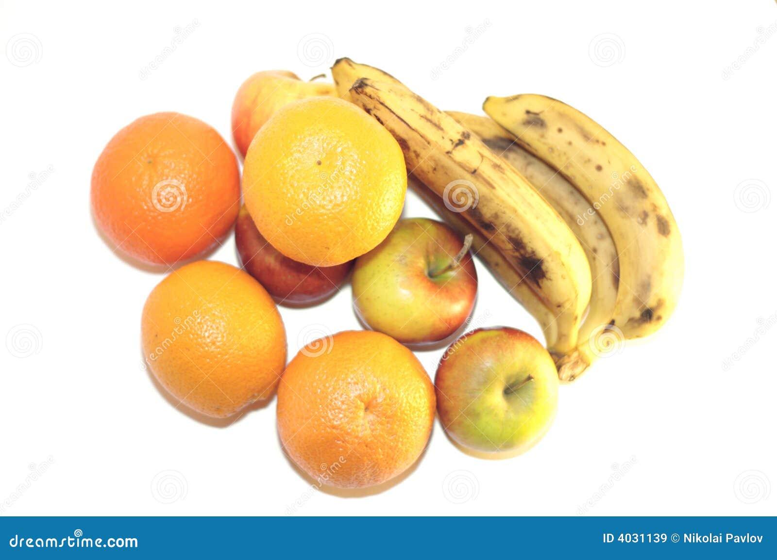 Owoce odizolowane white