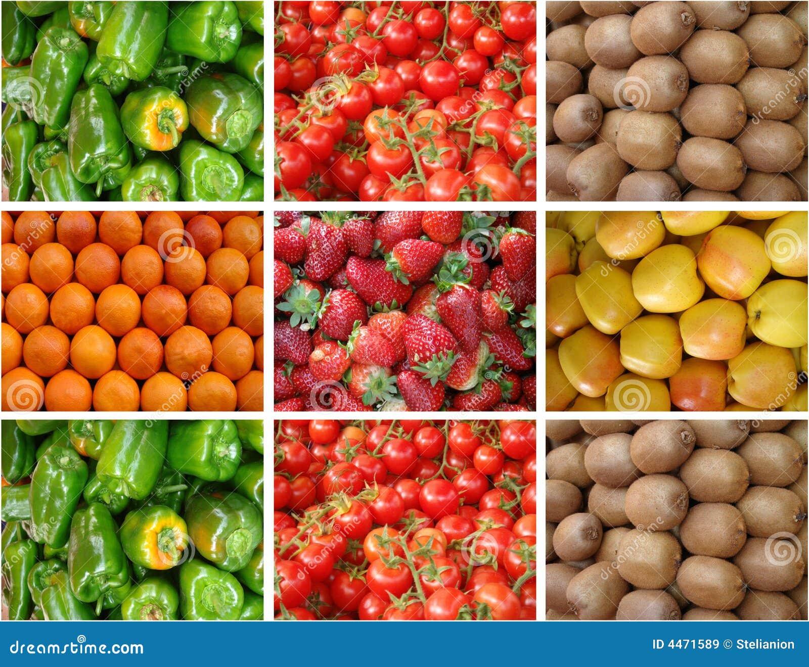 Owoce, warzywa obraz stock. Obraz złożonej z kiwi..