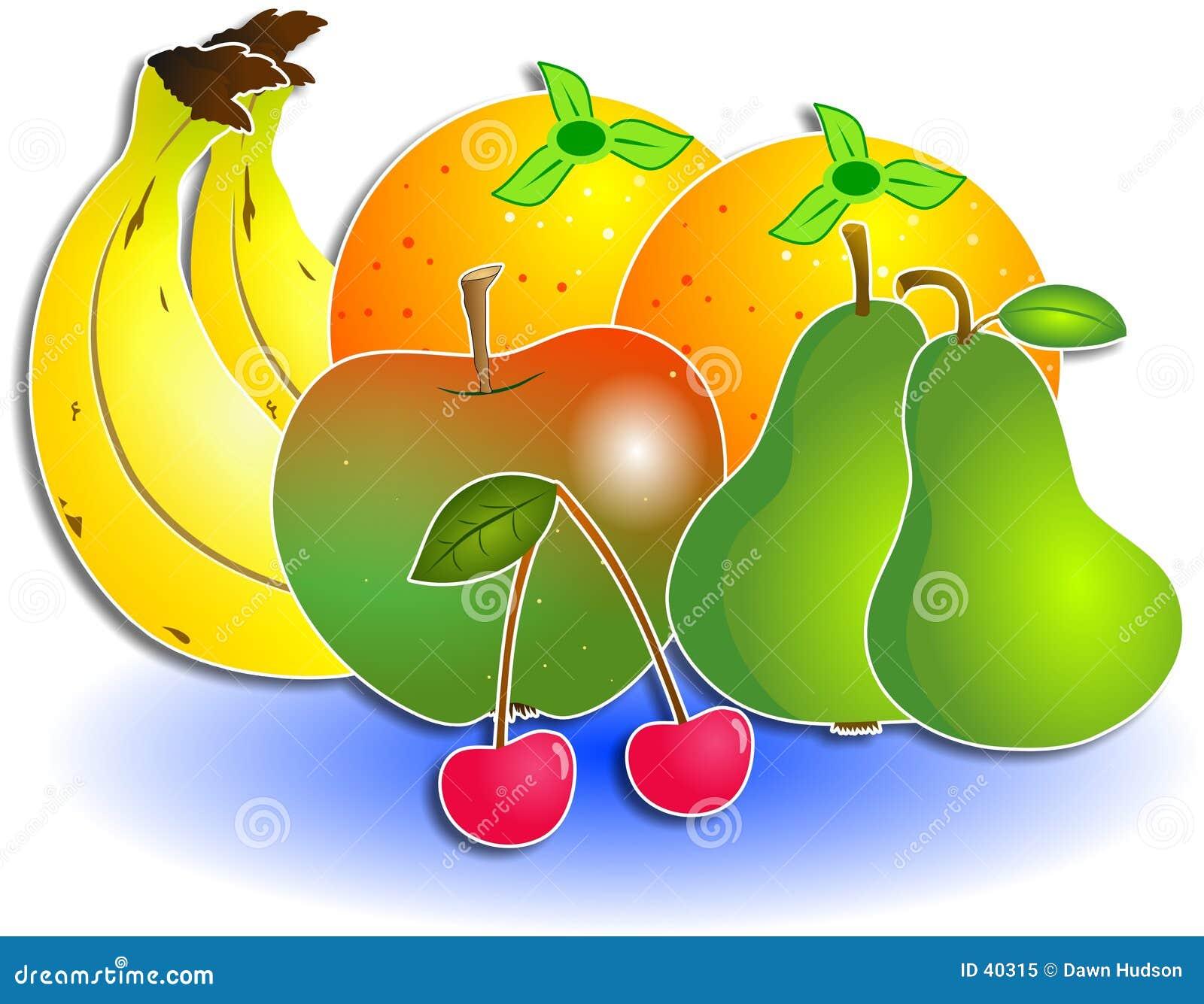 Download Owoce zmieszana ilustracji. Ilustracja złożonej z wiśnia - 40315